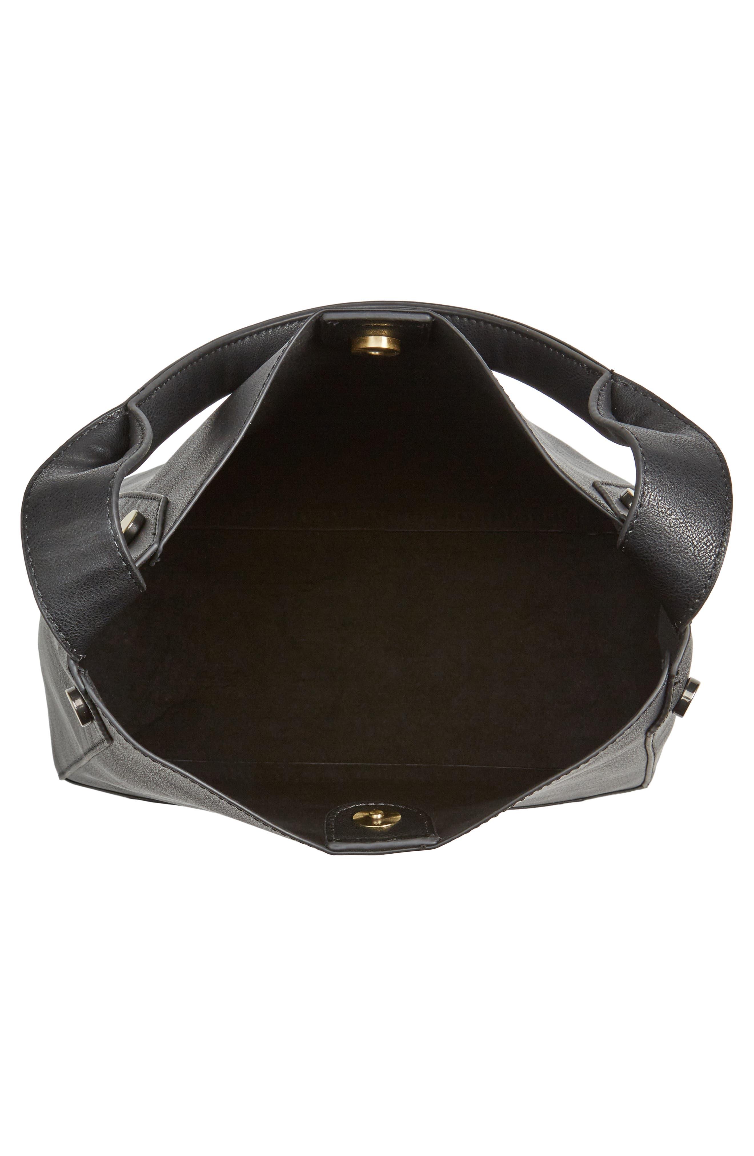 Alani Faux Leather Shoulder Bag,                             Alternate thumbnail 7, color,