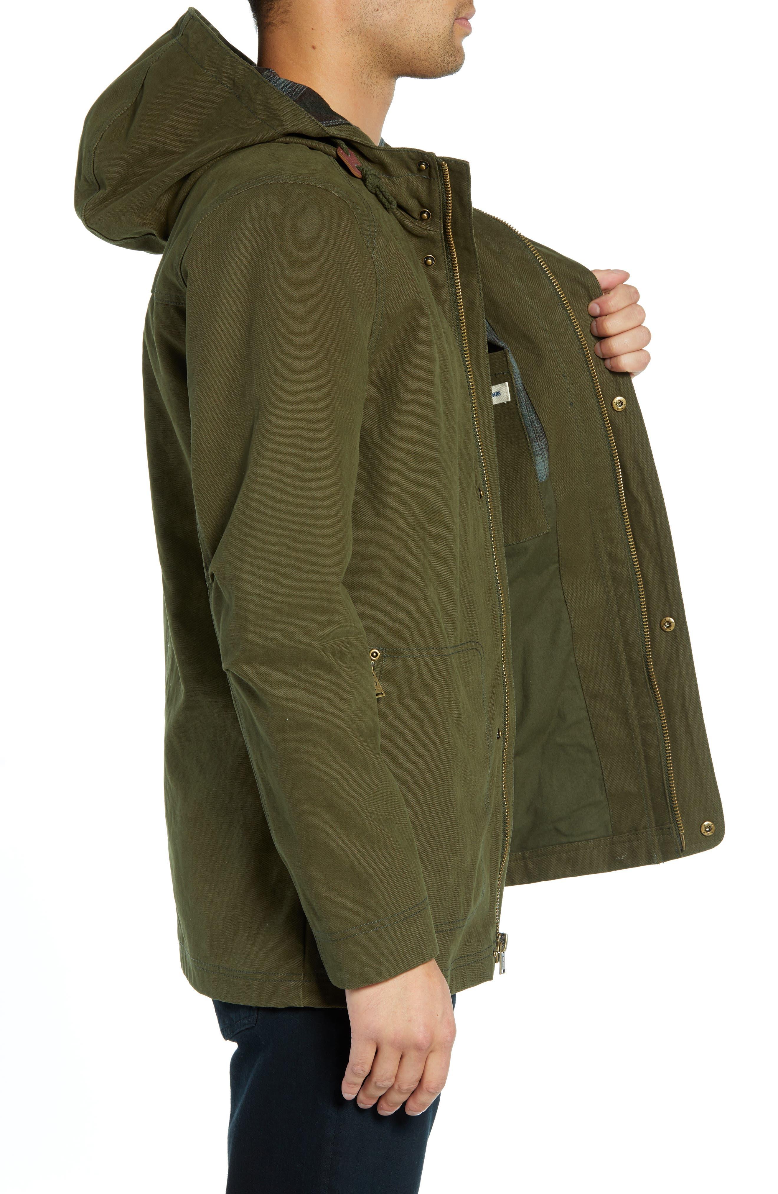 Dry Goods Cascade Raincoat,                             Alternate thumbnail 3, color,                             OLIVE