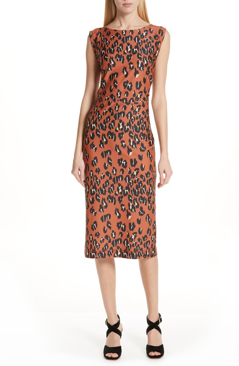 Rachel Comey Medina Leopard Print Sheath Dress  420466f3e90a