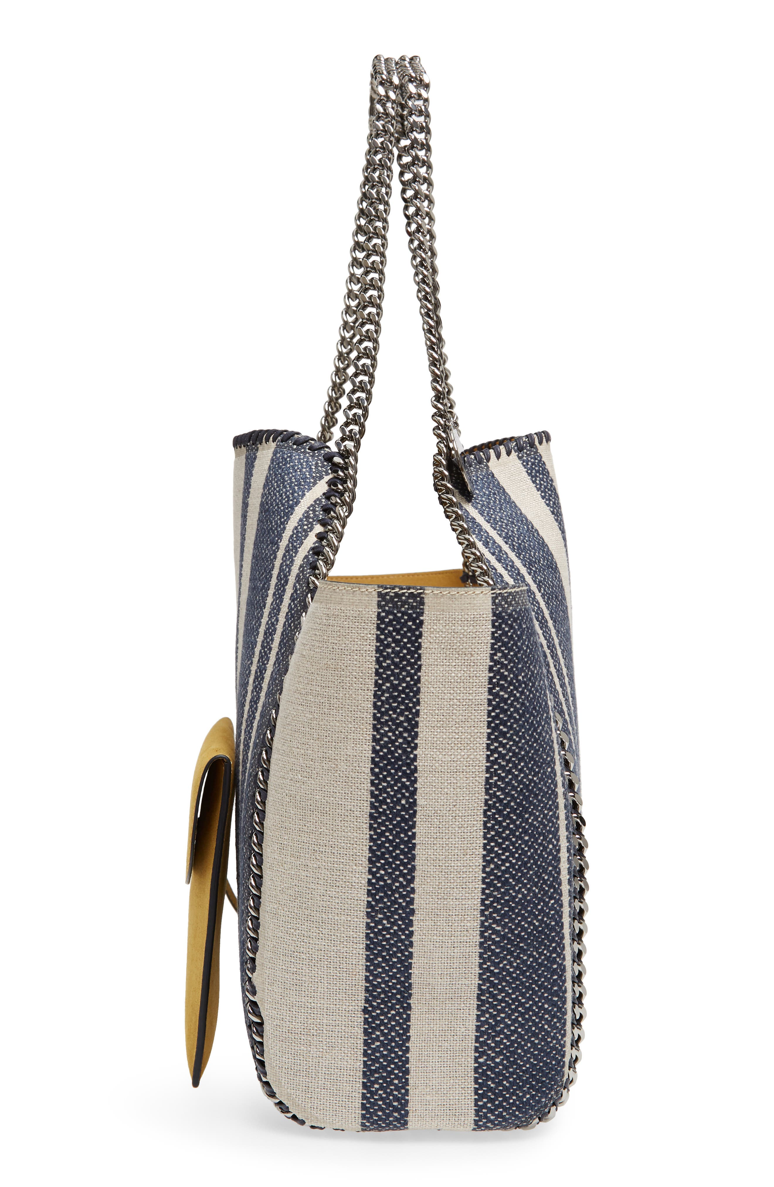 Falabella Small Reversible Canvas & Faux Leather Tote,                             Alternate thumbnail 5, color,                             400