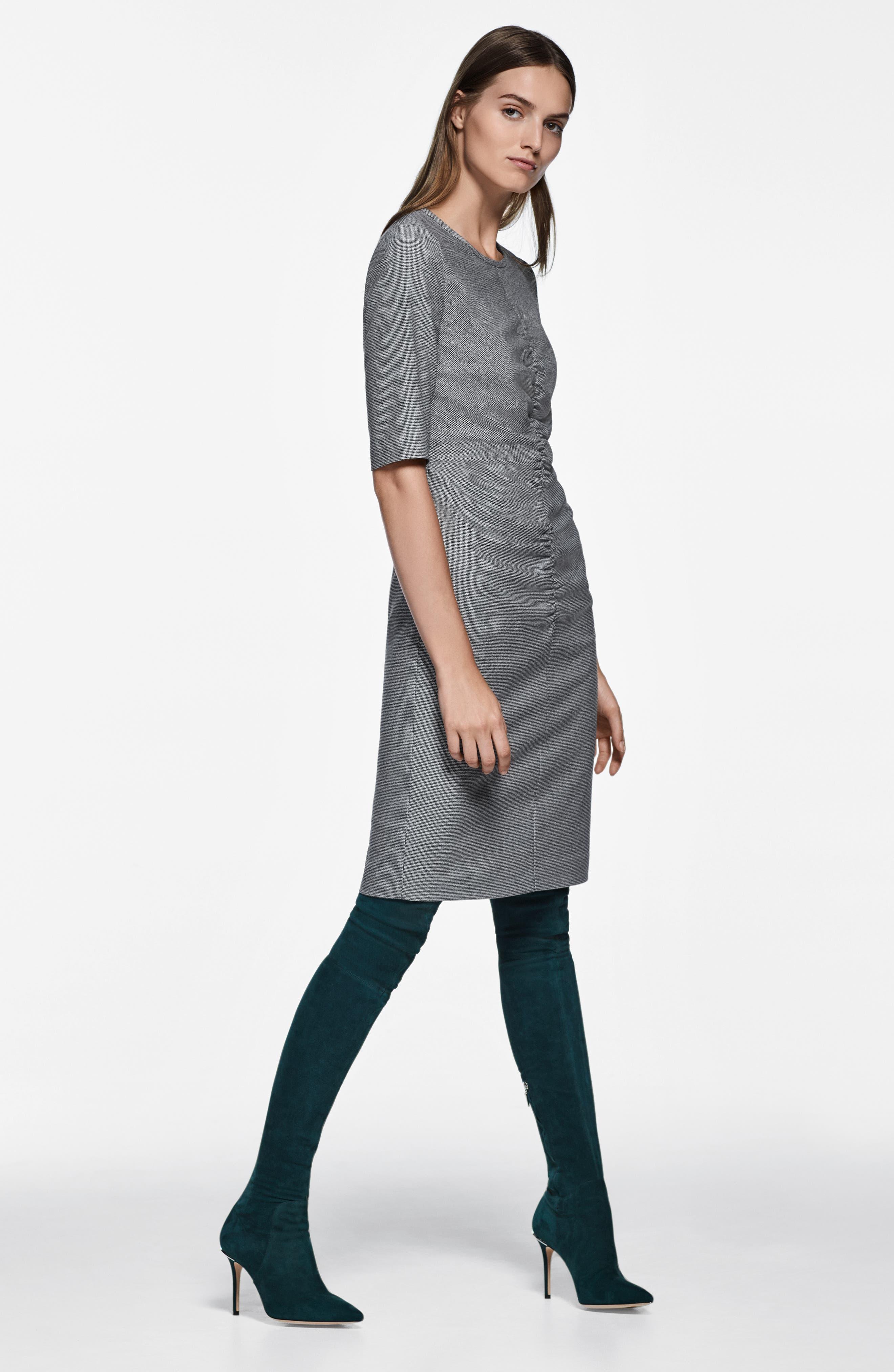 Dirafia Blurred Optic Dress,                             Alternate thumbnail 8, color,                             BLACK FANTASY