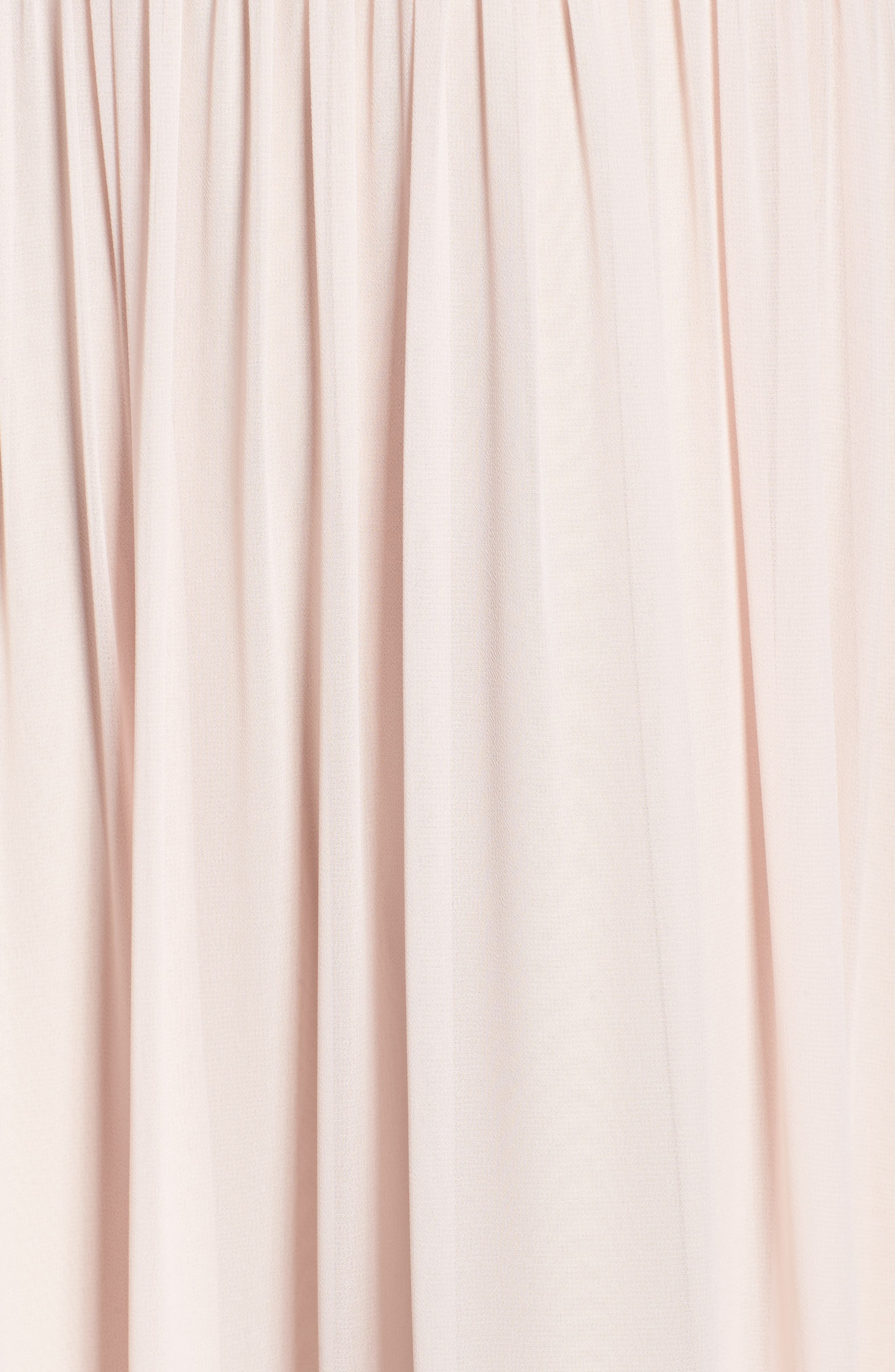 Ruffle Detail A-Line Chiffon Gown,                             Alternate thumbnail 5, color,                             DUSTY ROSE