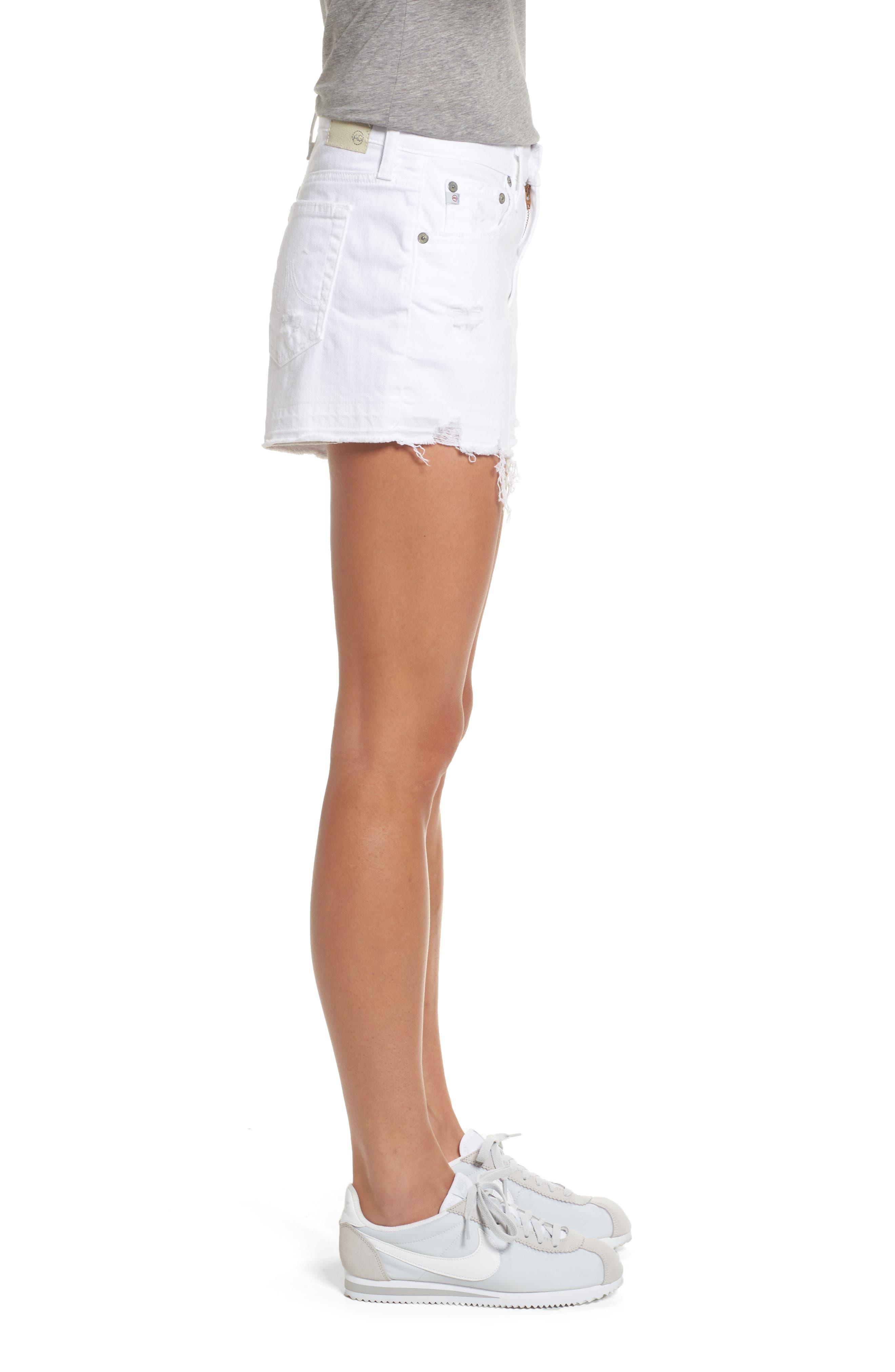 Bryn High Rise Cutoff Denim Shorts,                             Alternate thumbnail 3, color,                             158