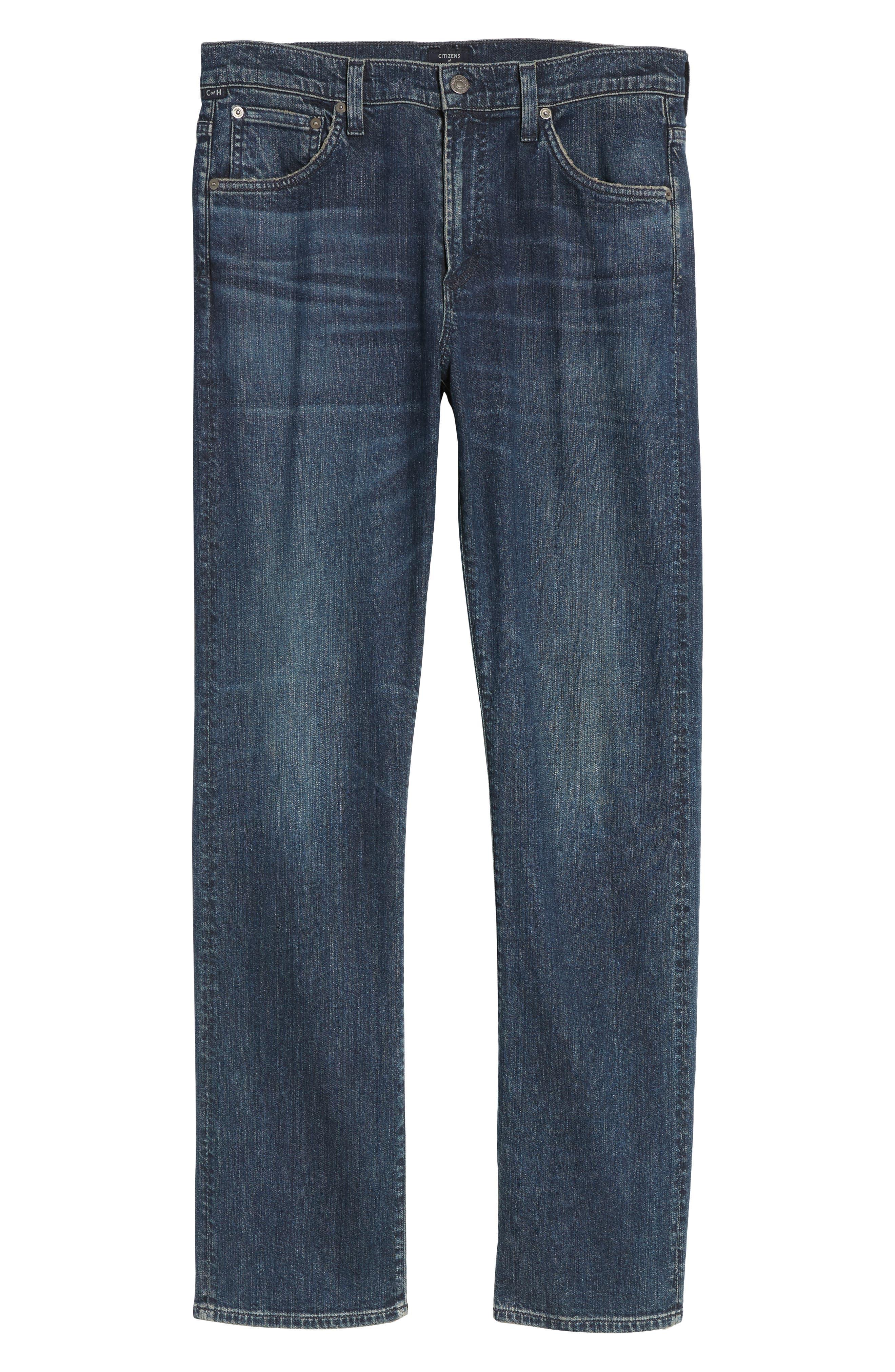 Sid Straight Leg Jeans,                             Alternate thumbnail 6, color,                             BLAZE
