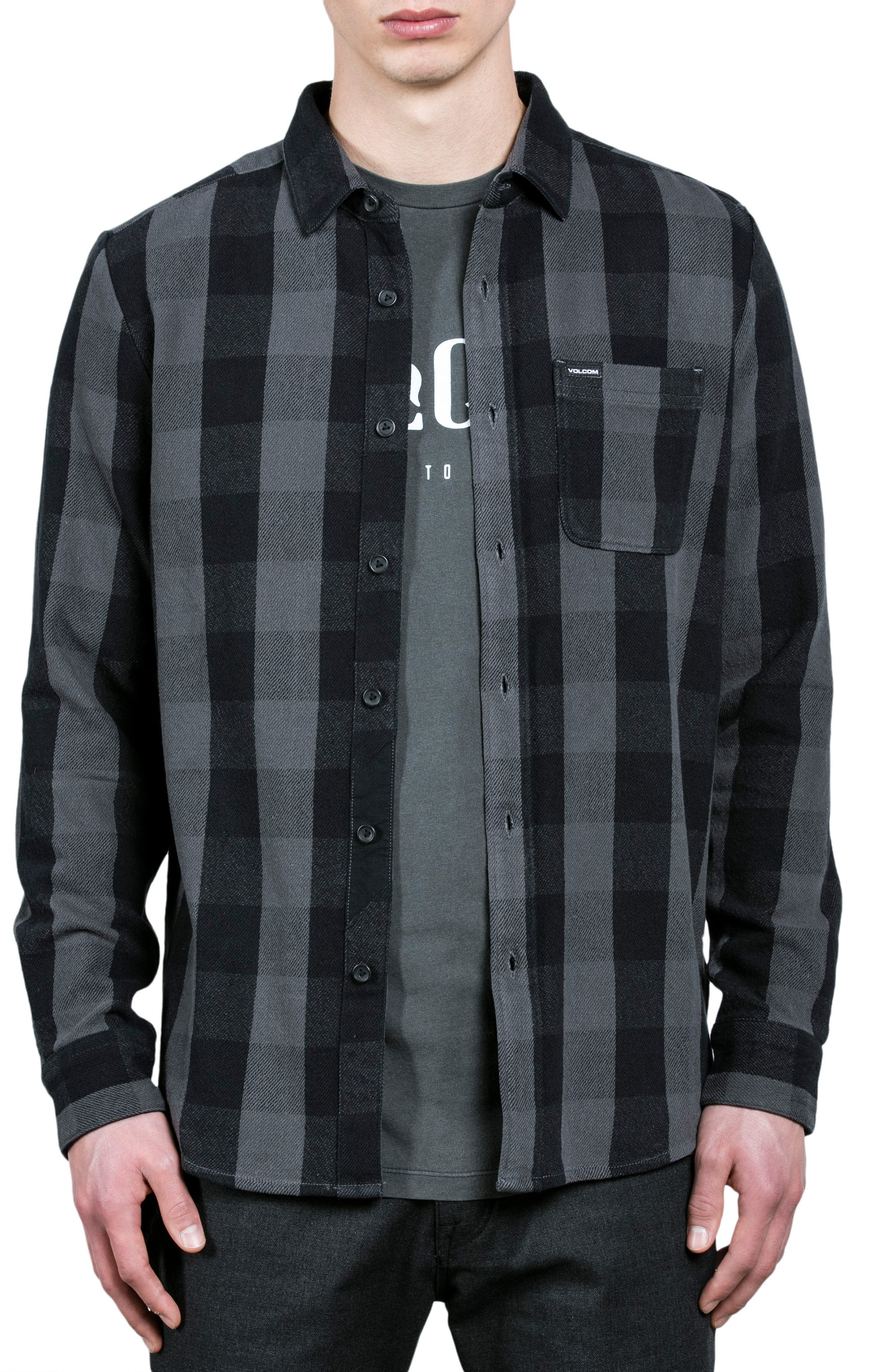 Invert Check Flannel Shirt,                             Main thumbnail 1, color,
