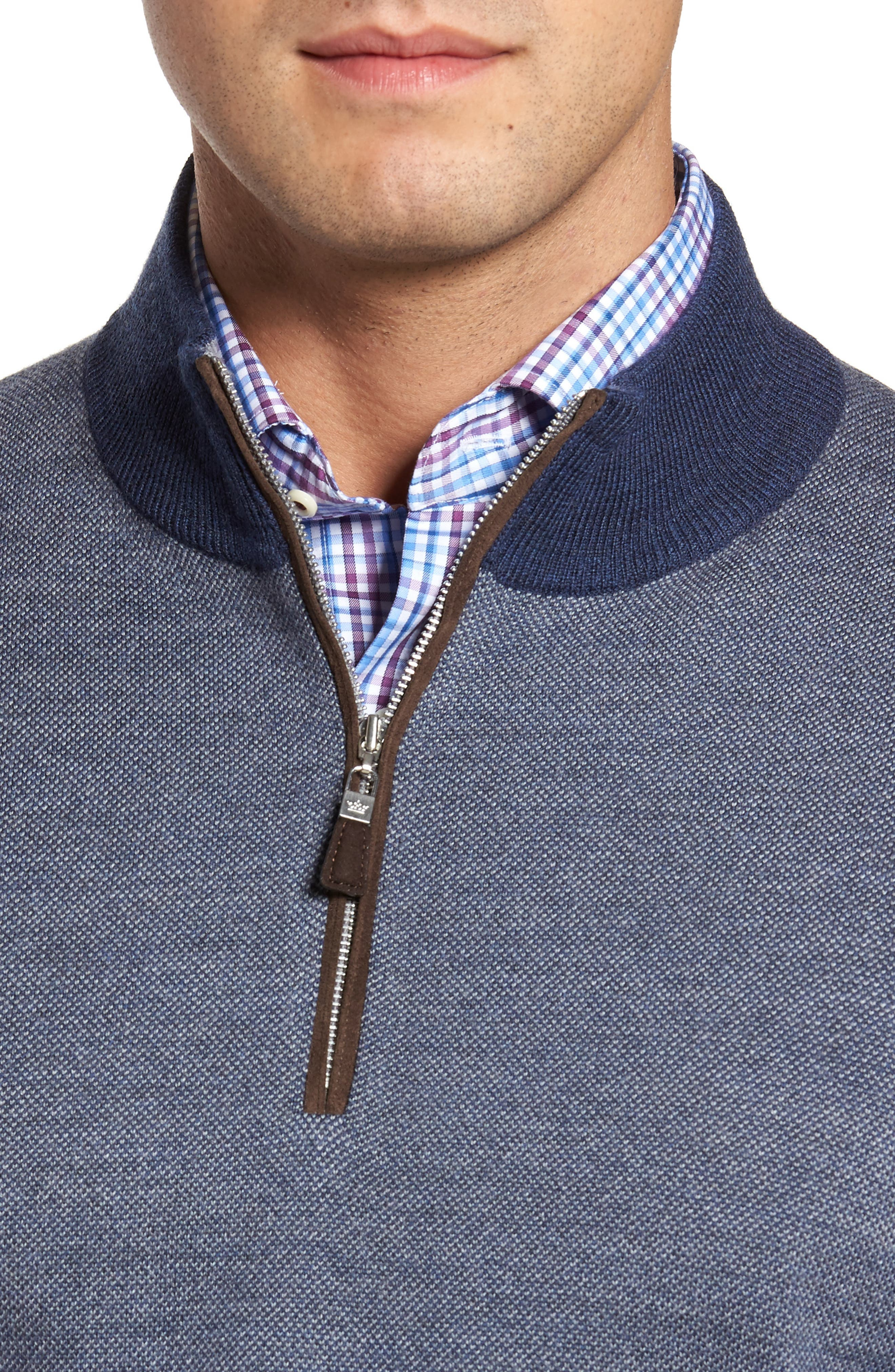 Quarter Zip Wool Pullover,                             Alternate thumbnail 4, color,                             415