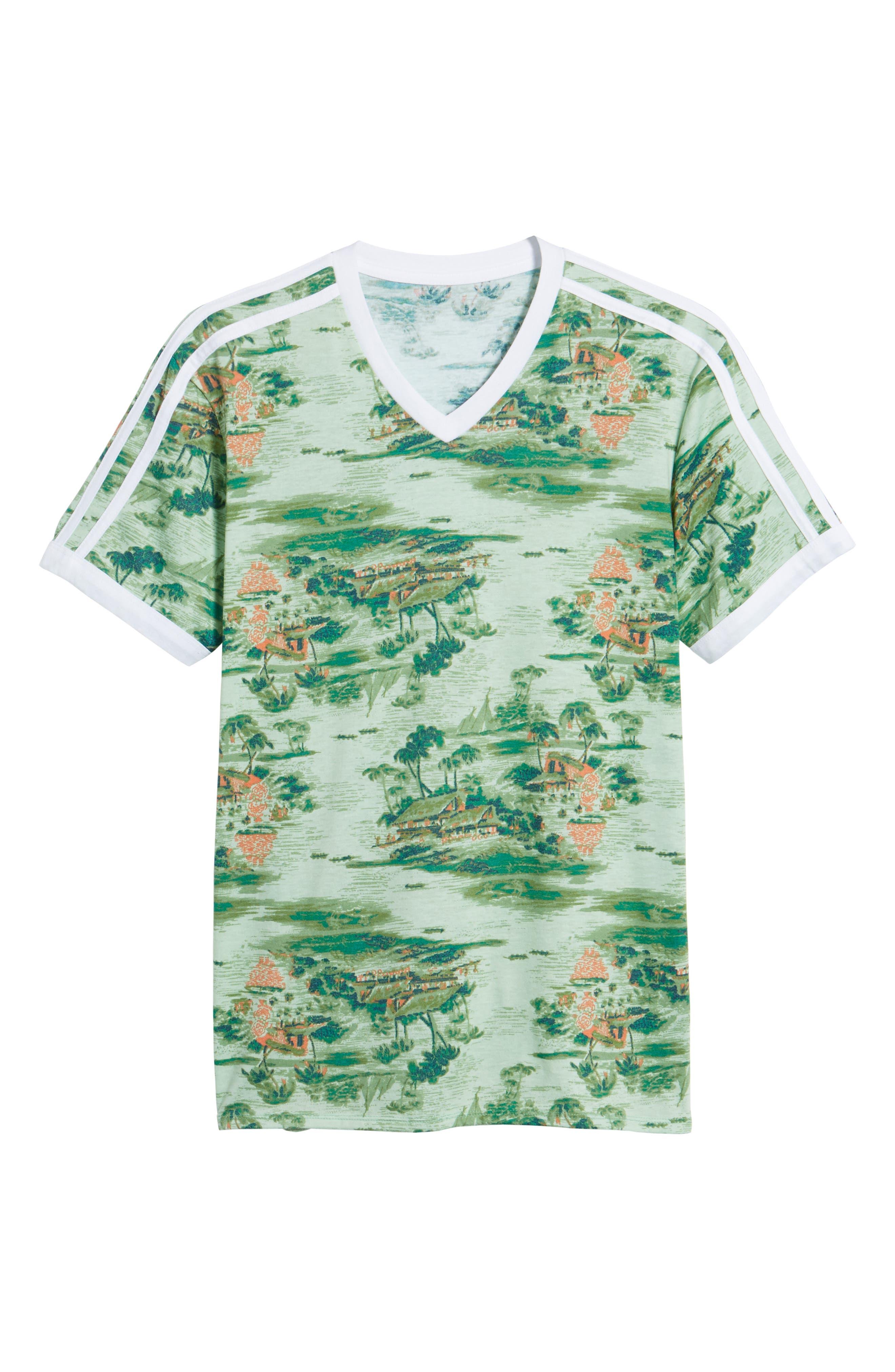 Print V-Neck T-Shirt,                             Alternate thumbnail 6, color,                             310