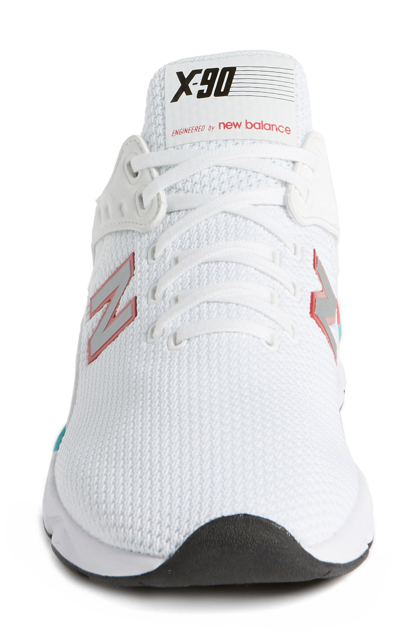 X-90 Knit Sneaker,                             Alternate thumbnail 4, color,                             WHITE