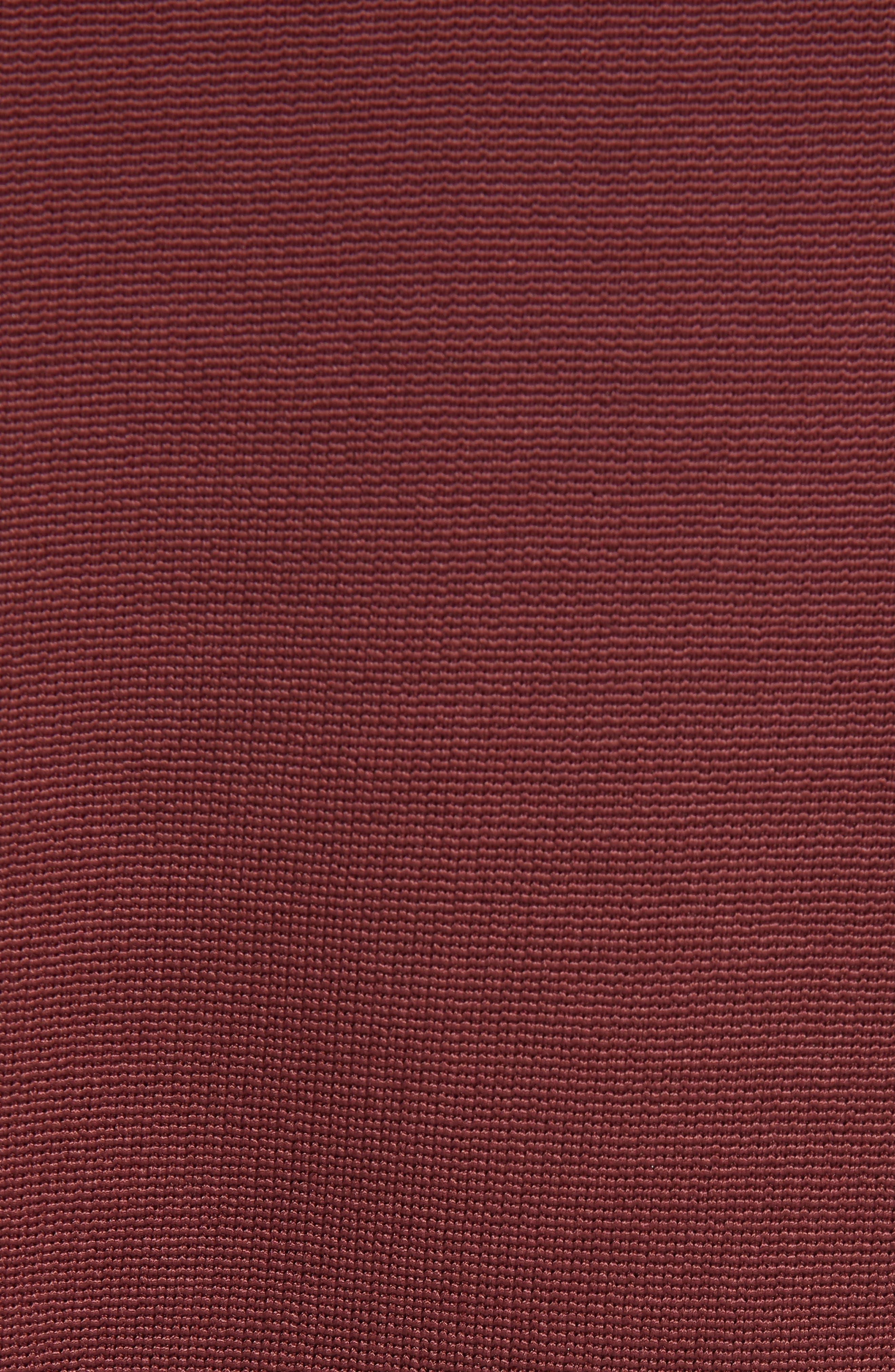 Demiara Sheath Dress,                             Alternate thumbnail 5, color,                             DARK AUBURN