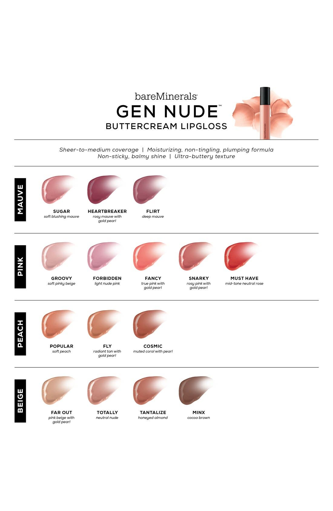Gen Nude<sup>™</sup> Buttercream Lipgloss,                             Alternate thumbnail 5, color,                             200