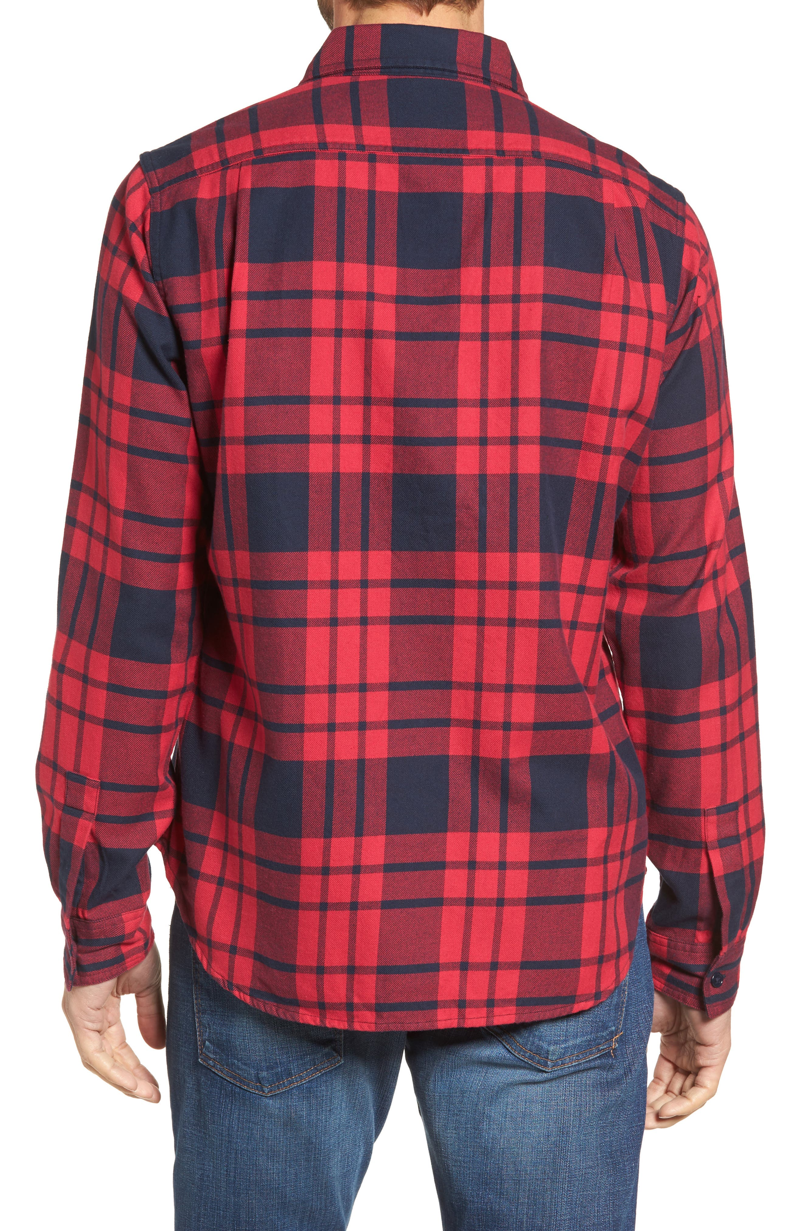 Slim Fit Plaid Flannel Shirt,                             Alternate thumbnail 2, color,