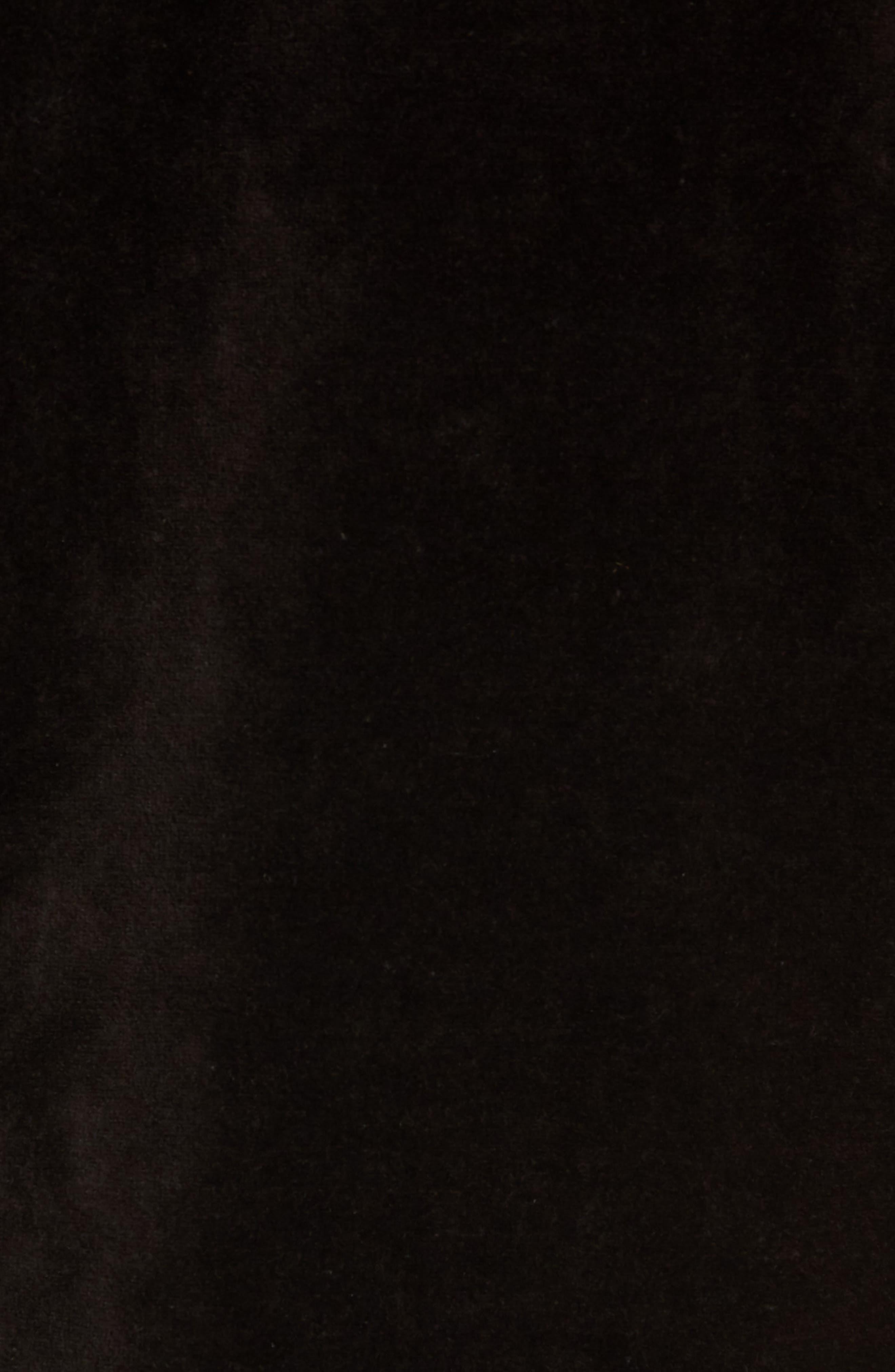 Velour Jacket,                             Alternate thumbnail 5, color,                             POLO BLACK