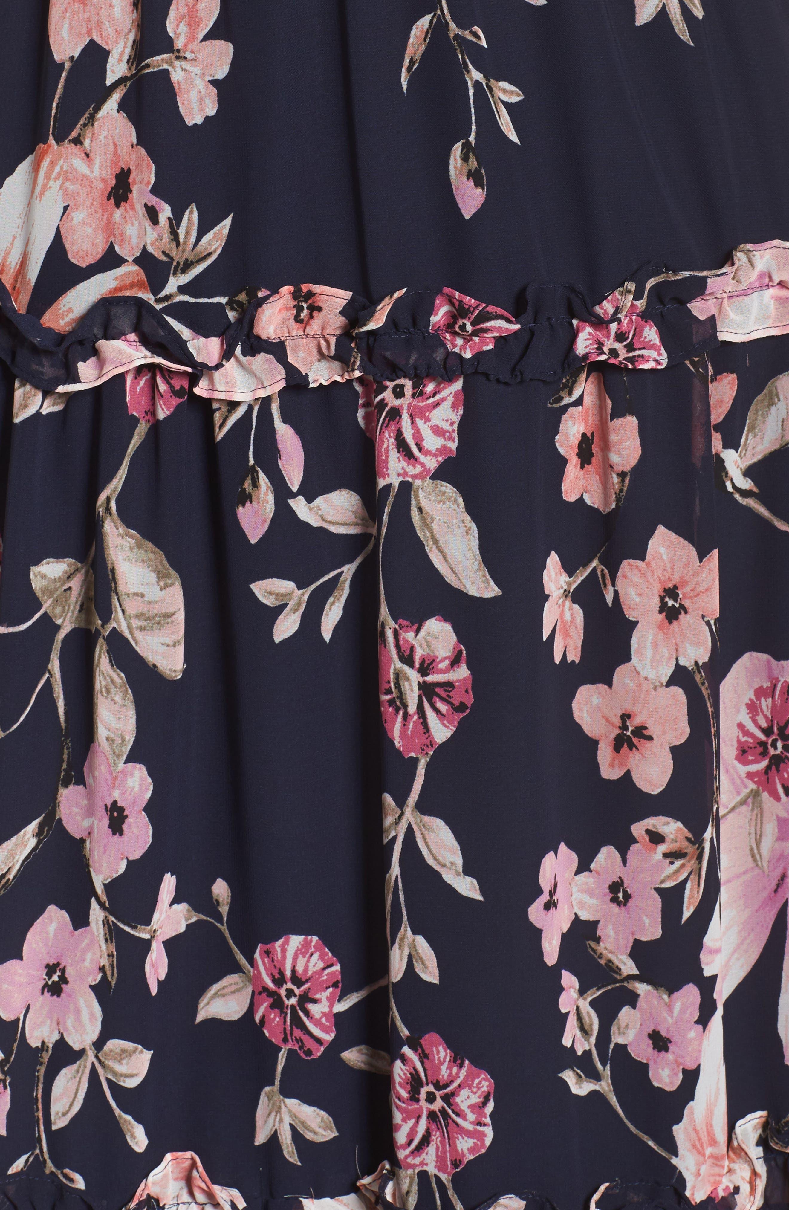 Floral Halter Maxi Dress,                             Alternate thumbnail 5, color,                             654