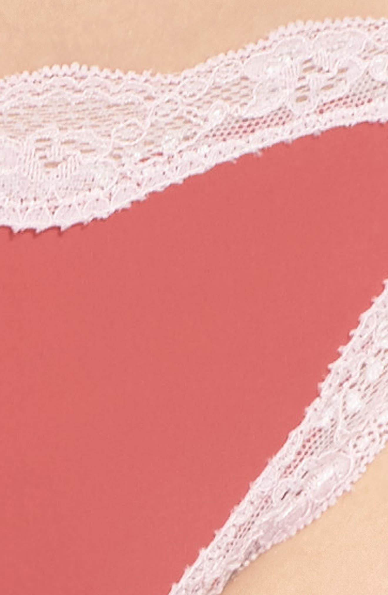Lace Trim Thong,                             Alternate thumbnail 58, color,