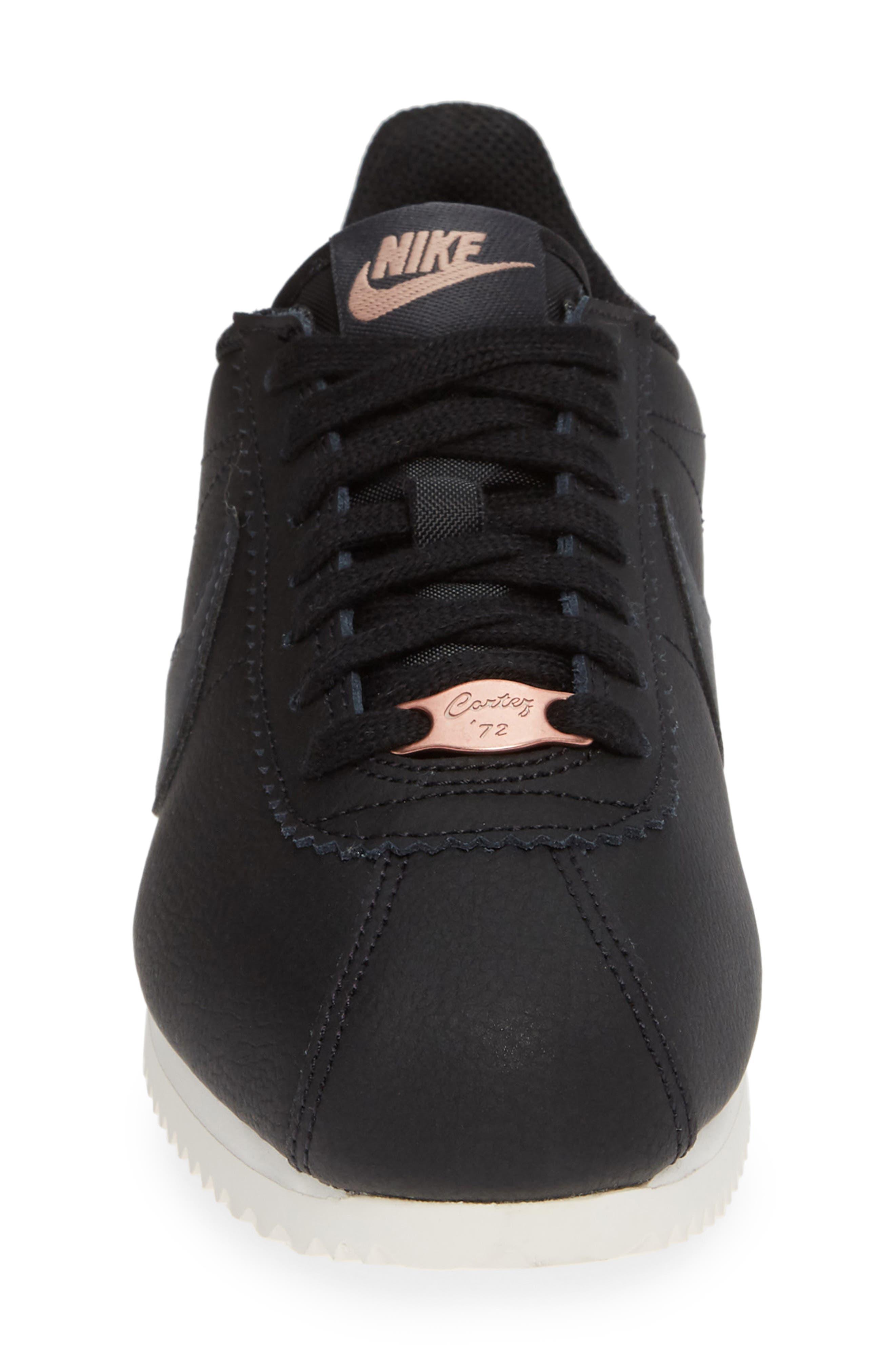 Classic Cortez Sneaker,                             Alternate thumbnail 4, color,                             BLACK/ METALLIC RED BRONZE
