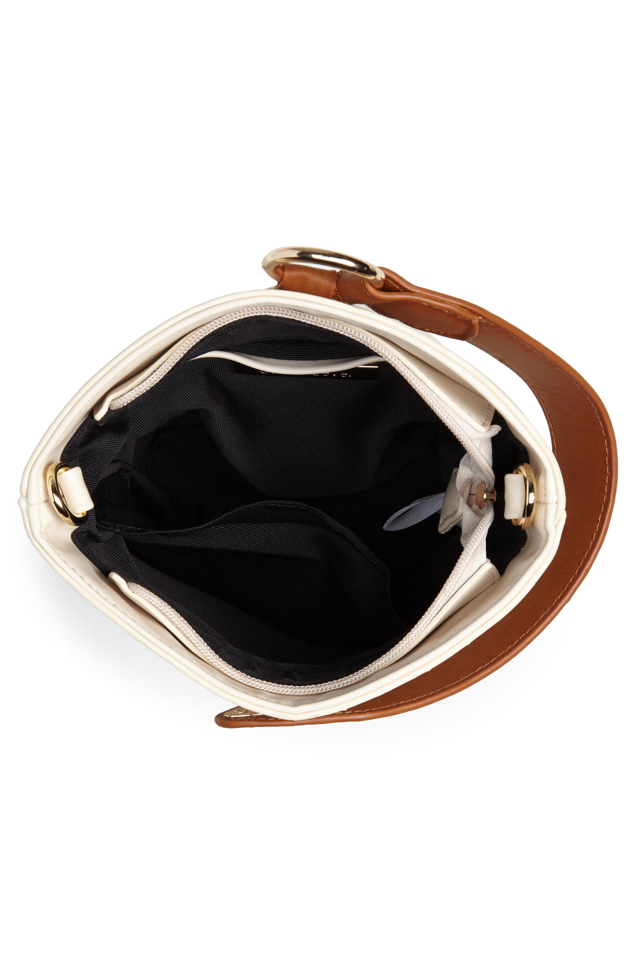 Top Handle Bucket Bag,                             Alternate thumbnail 4, color,                             IVORY