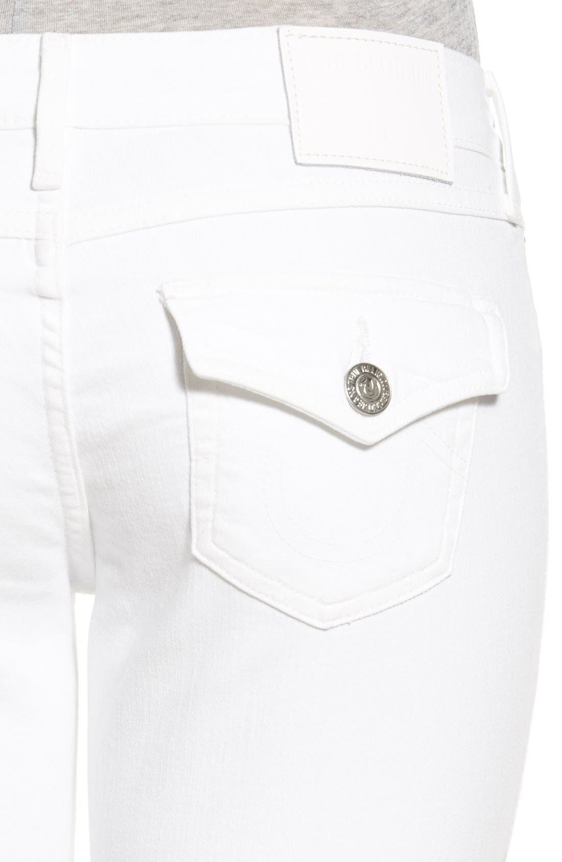'Casey' Flap Pocket Skinny Jeans,                             Alternate thumbnail 5, color,