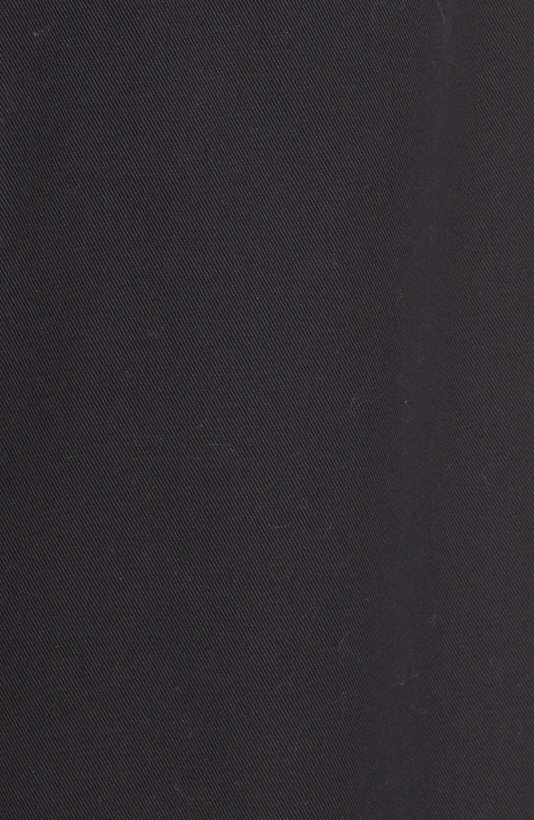 Wide Leg Stretch Cotton Crop Pants,                             Alternate thumbnail 4, color,                             001