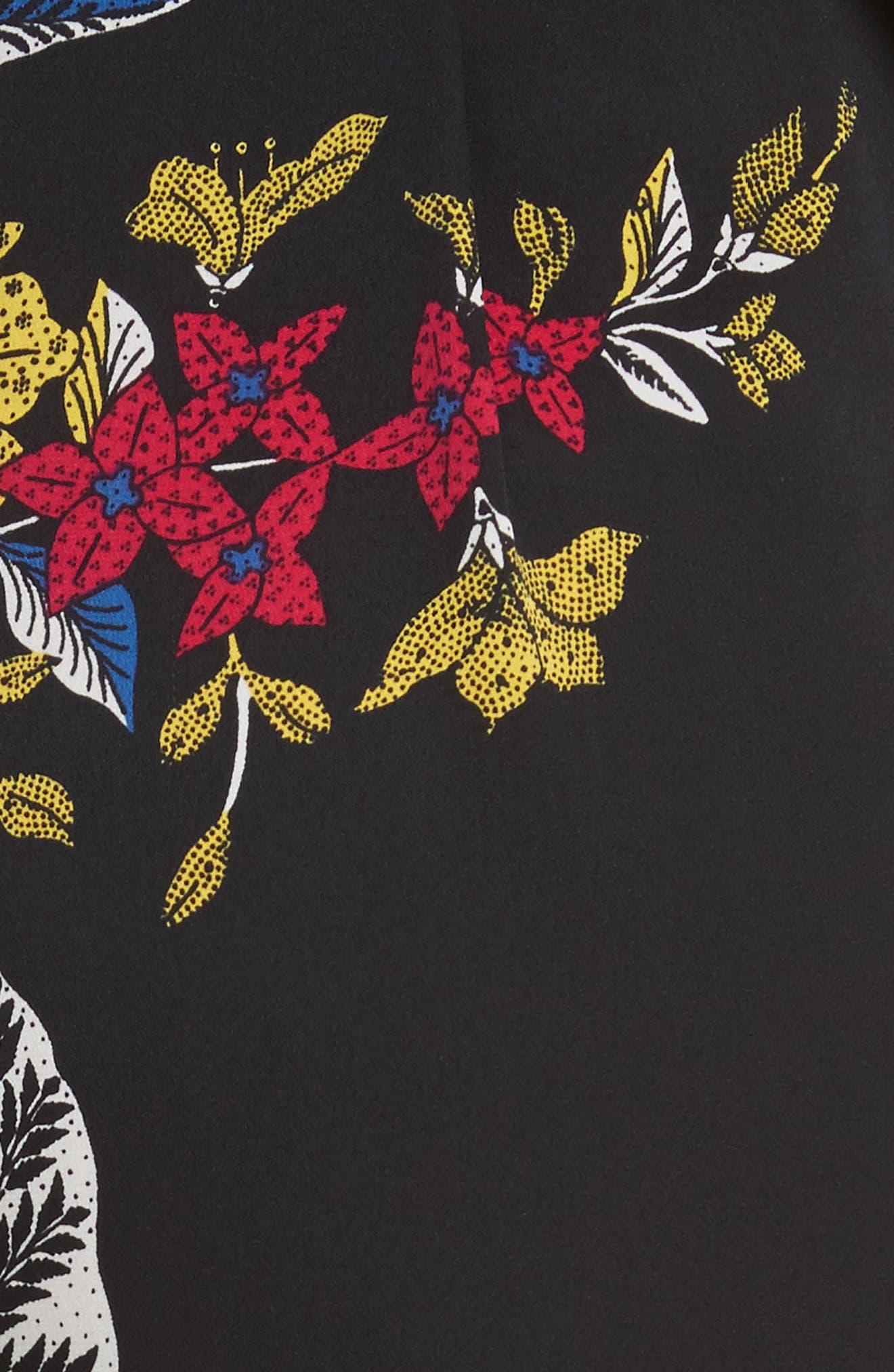 Diane von Furstenberg Faux Wrap Colorblock Silk Jumpsuit,                             Alternate thumbnail 5, color,