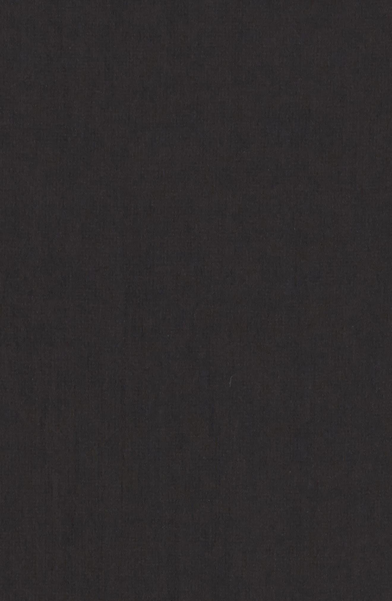 Chiffon Midi Dress,                             Alternate thumbnail 5, color,                             001