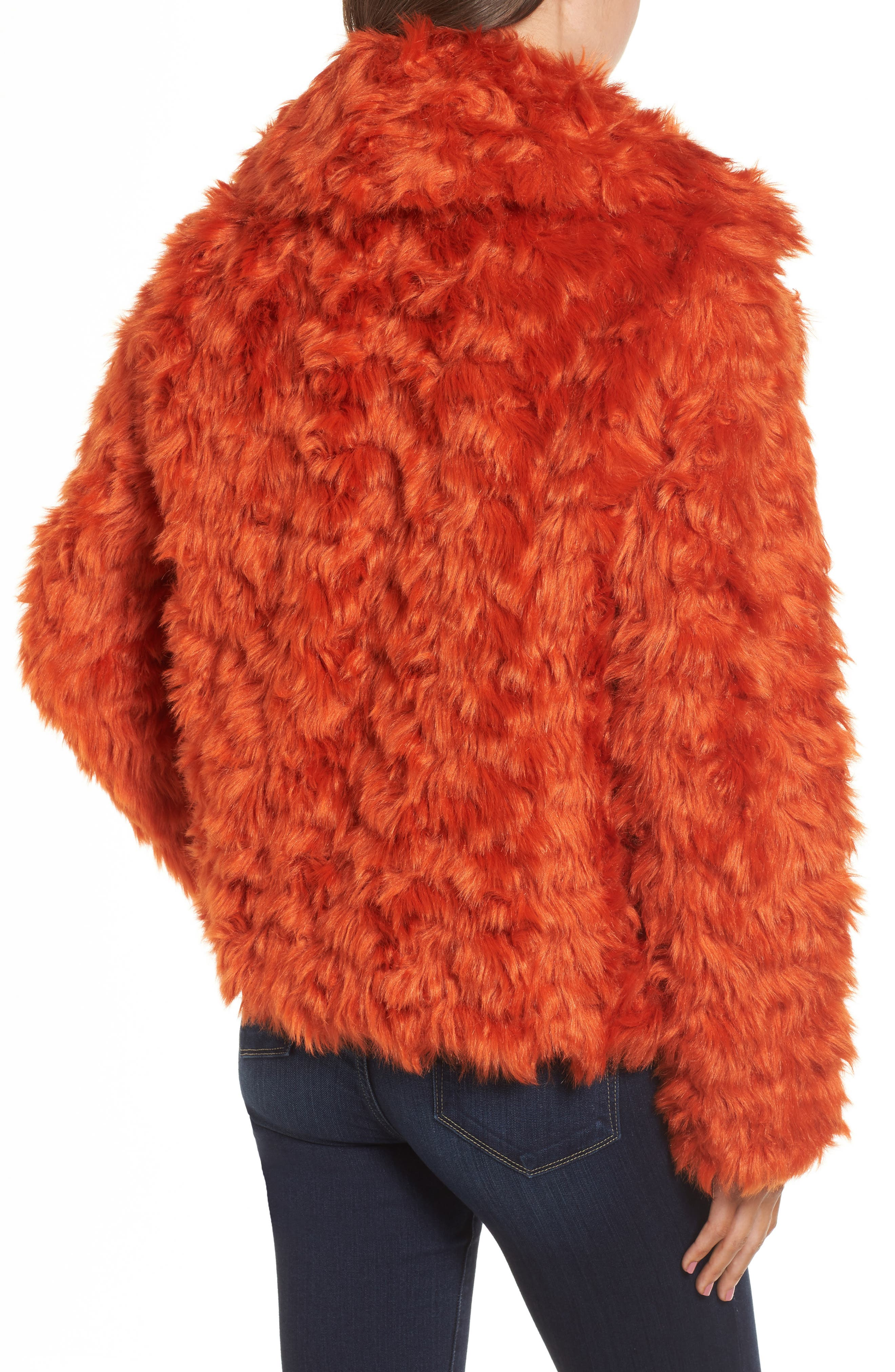 Curly Faux Fur Jacket,                             Alternate thumbnail 2, color,                             800