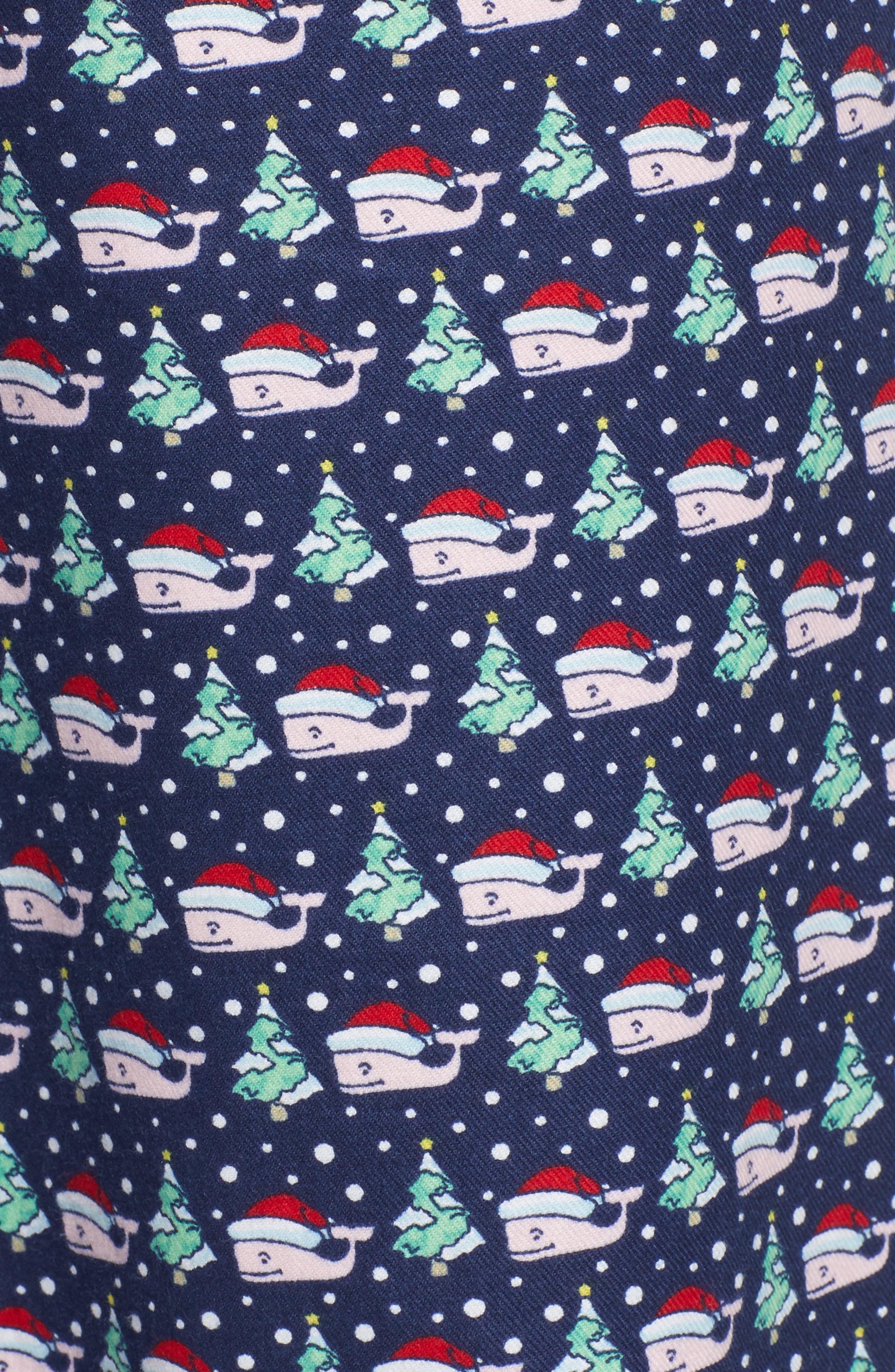 Santa Whale Lounge Pants,                             Alternate thumbnail 5, color,                             DEEP BAY