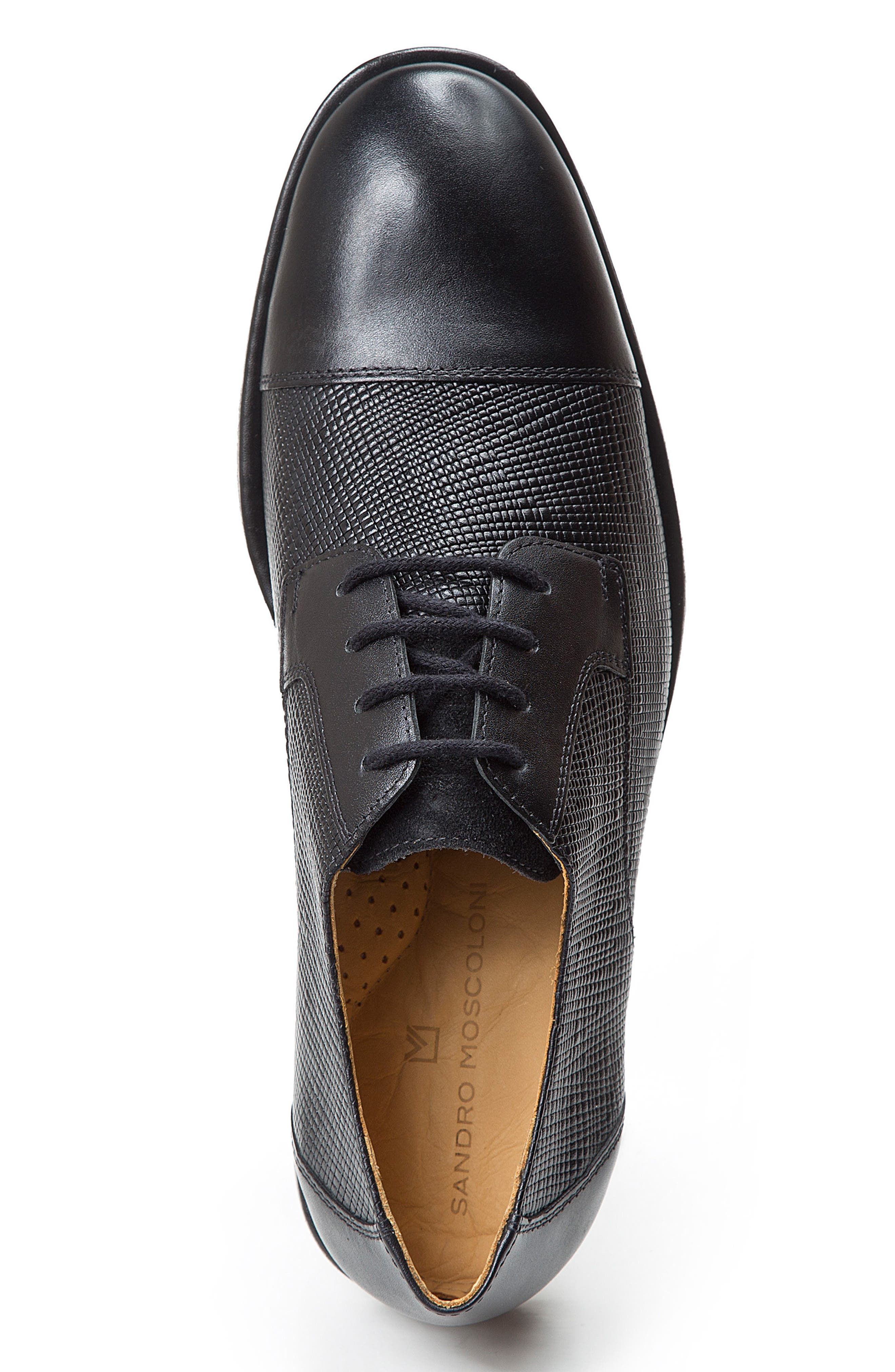 Ronny Embossed Cap Toe Derby,                             Alternate thumbnail 5, color,