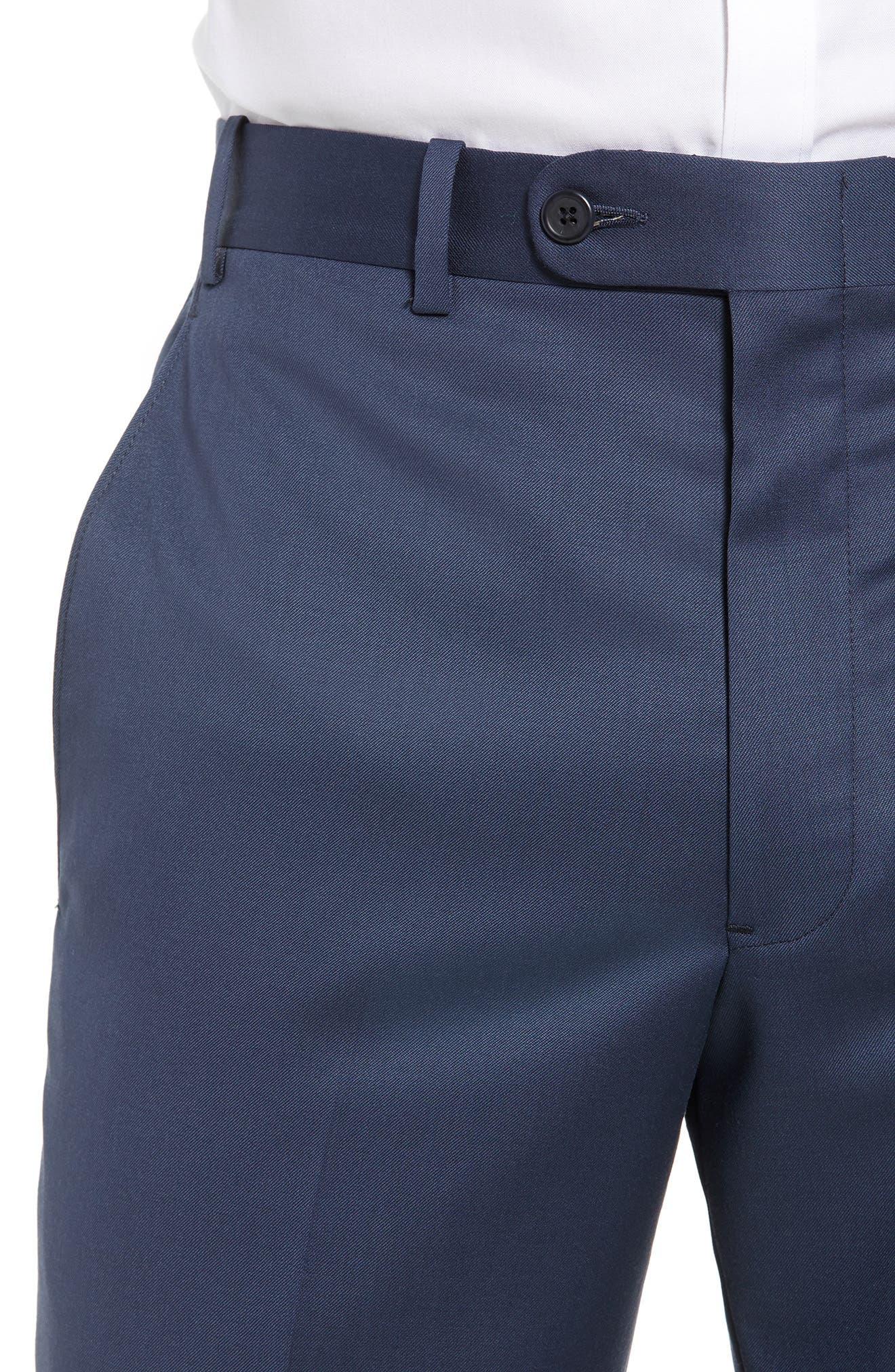 Torino Flat Front Wool Gabardine Trousers,                             Alternate thumbnail 24, color,