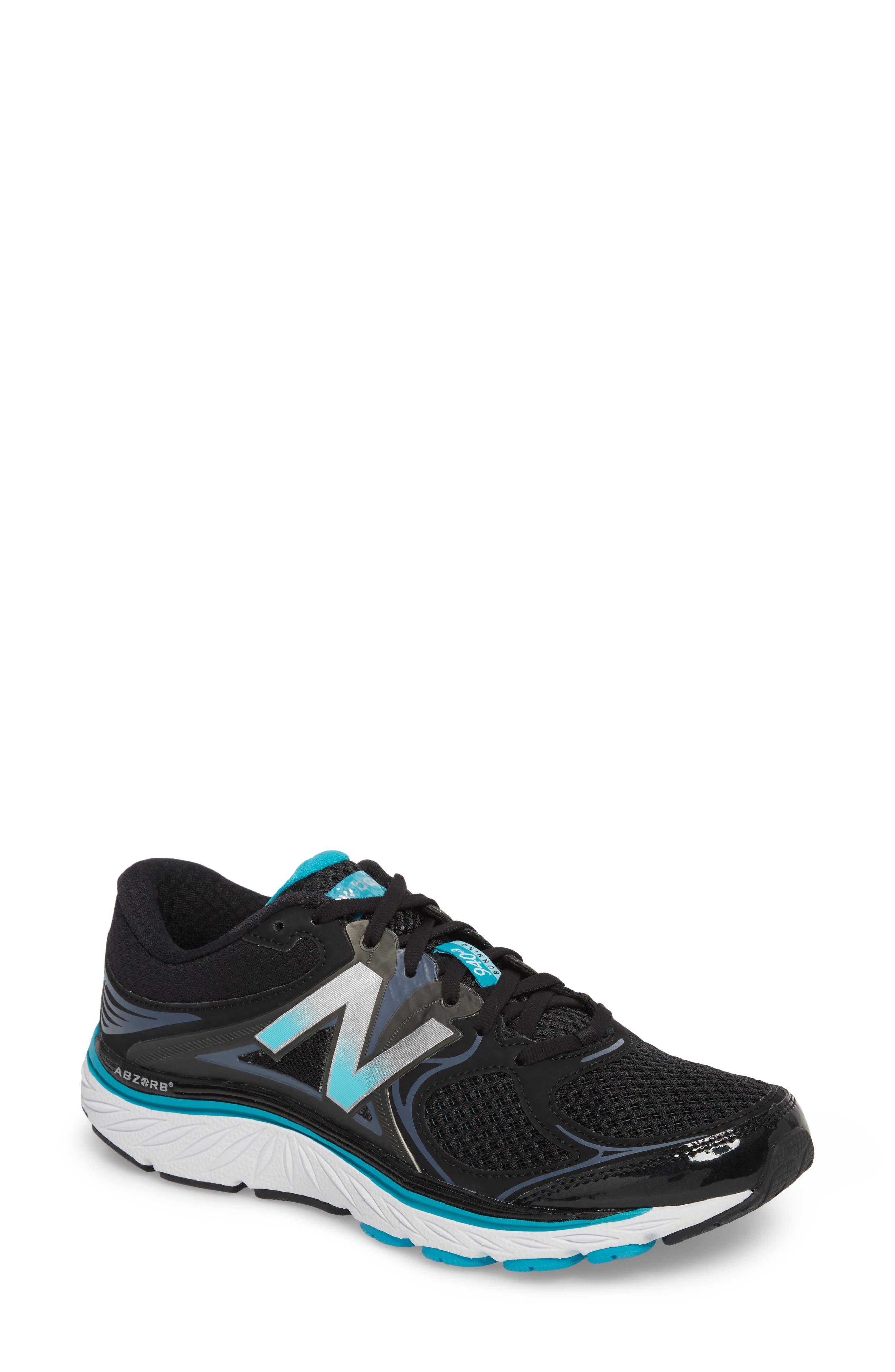 940v3 Running Shoe,                         Main,                         color, BLACK/ BLUE