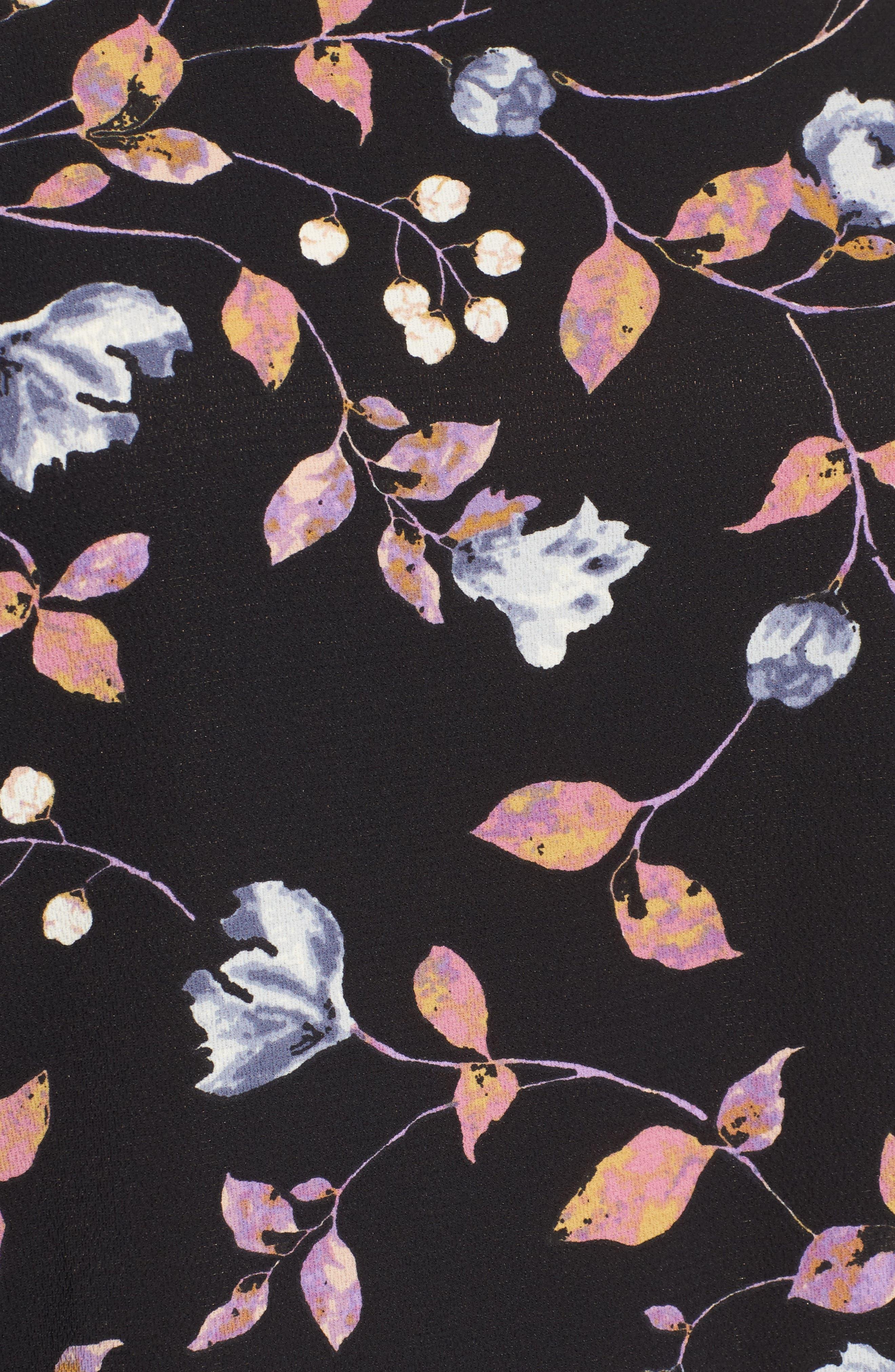 Ruffled Handkerchief Hem Top,                             Alternate thumbnail 5, color,                             003
