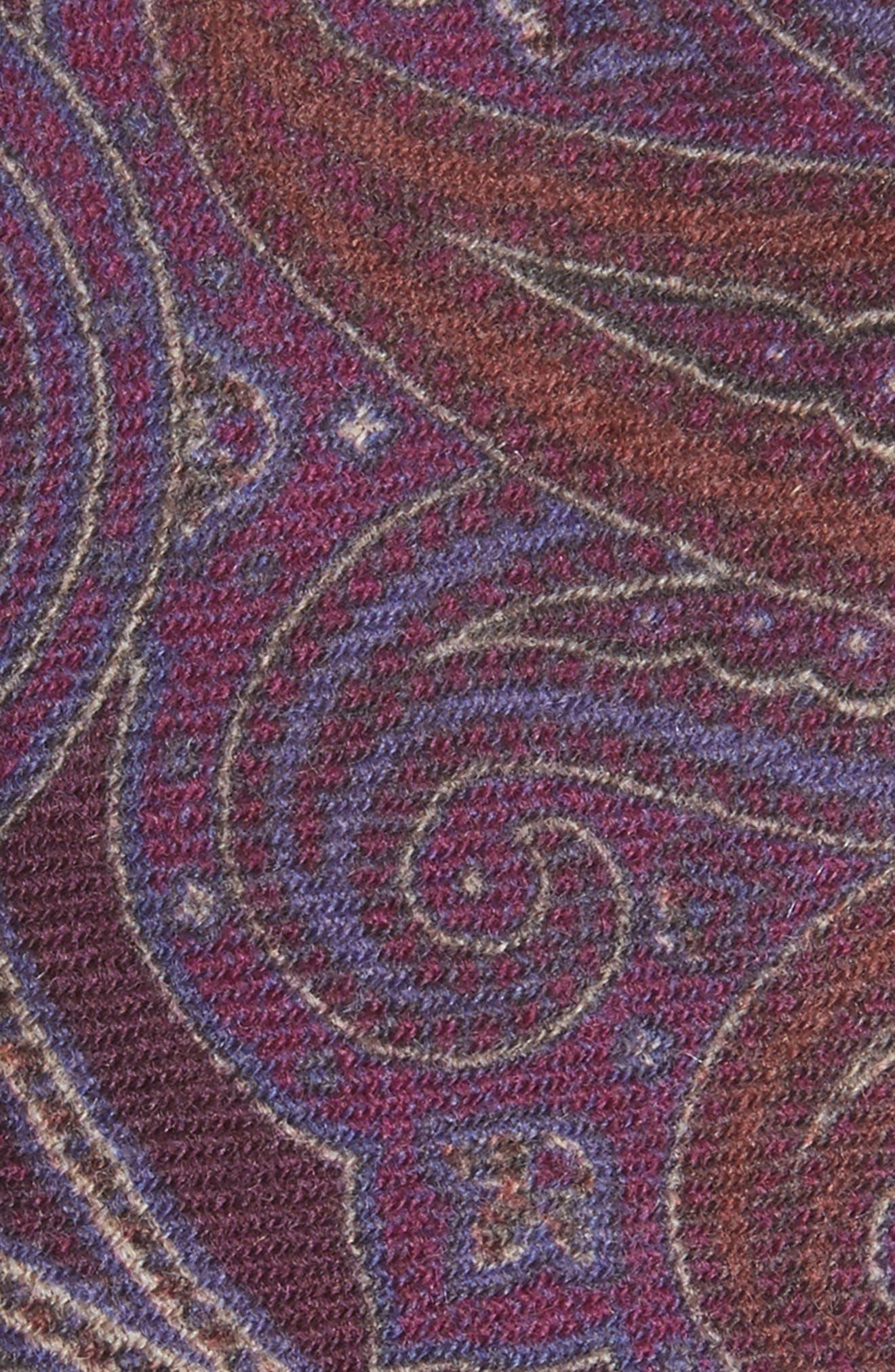 Paisley Wool Tie,                             Alternate thumbnail 2, color,                             500