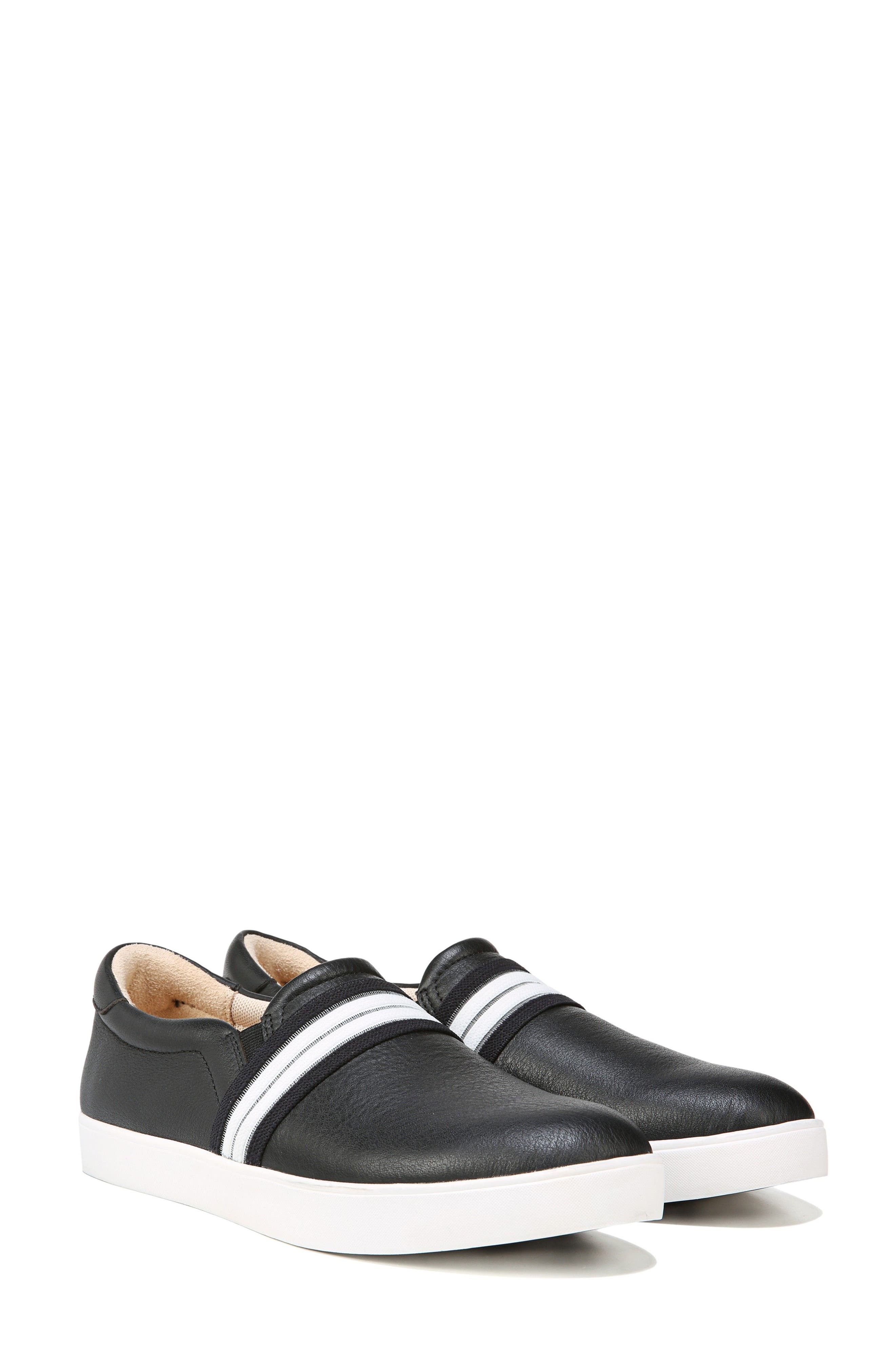 Scout Slip-On Sneaker,                             Alternate thumbnail 8, color,                             BLACK LEATHER 2