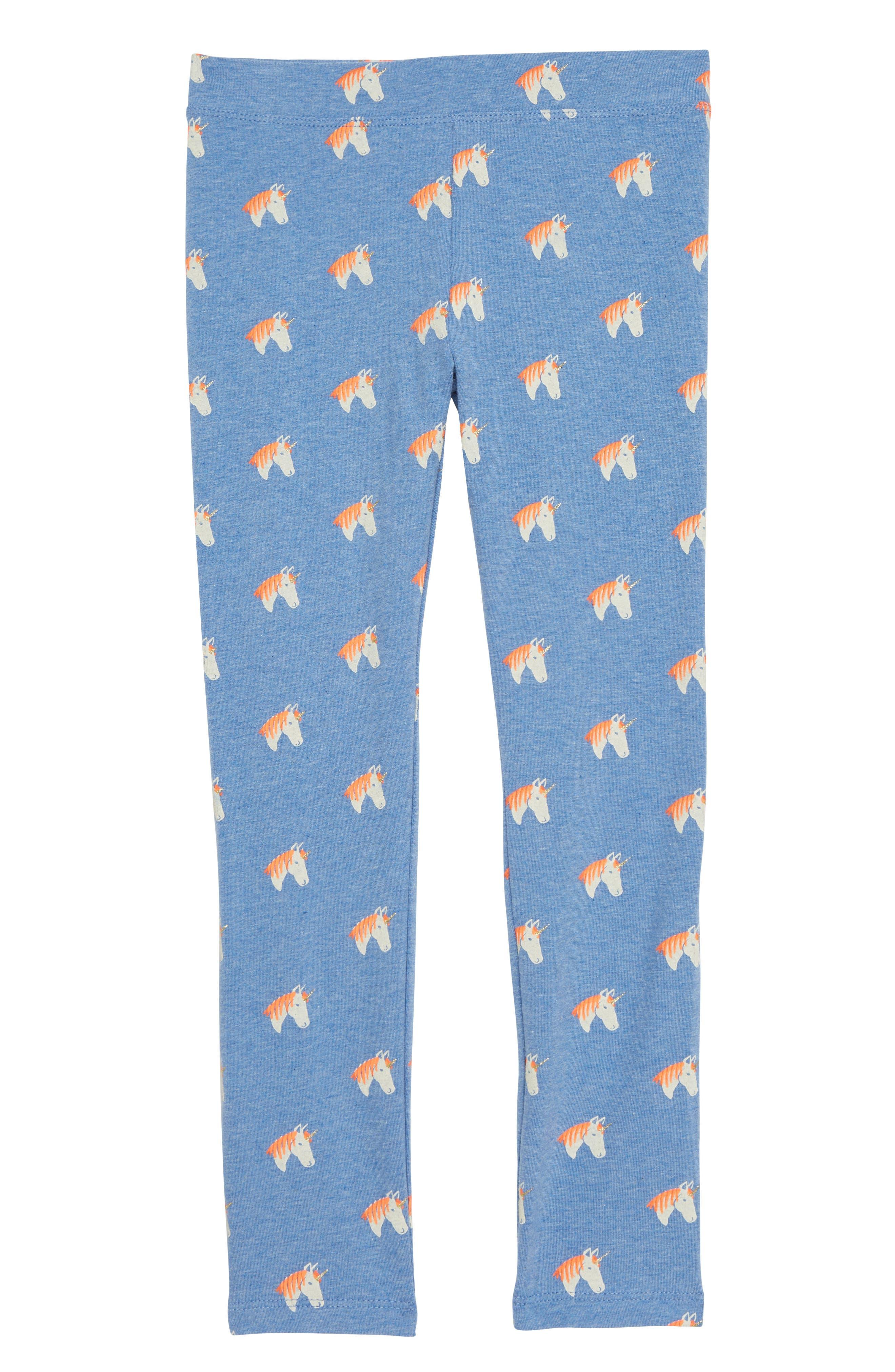 Unicorn Leggings,                             Main thumbnail 1, color,                             SUN BLUE