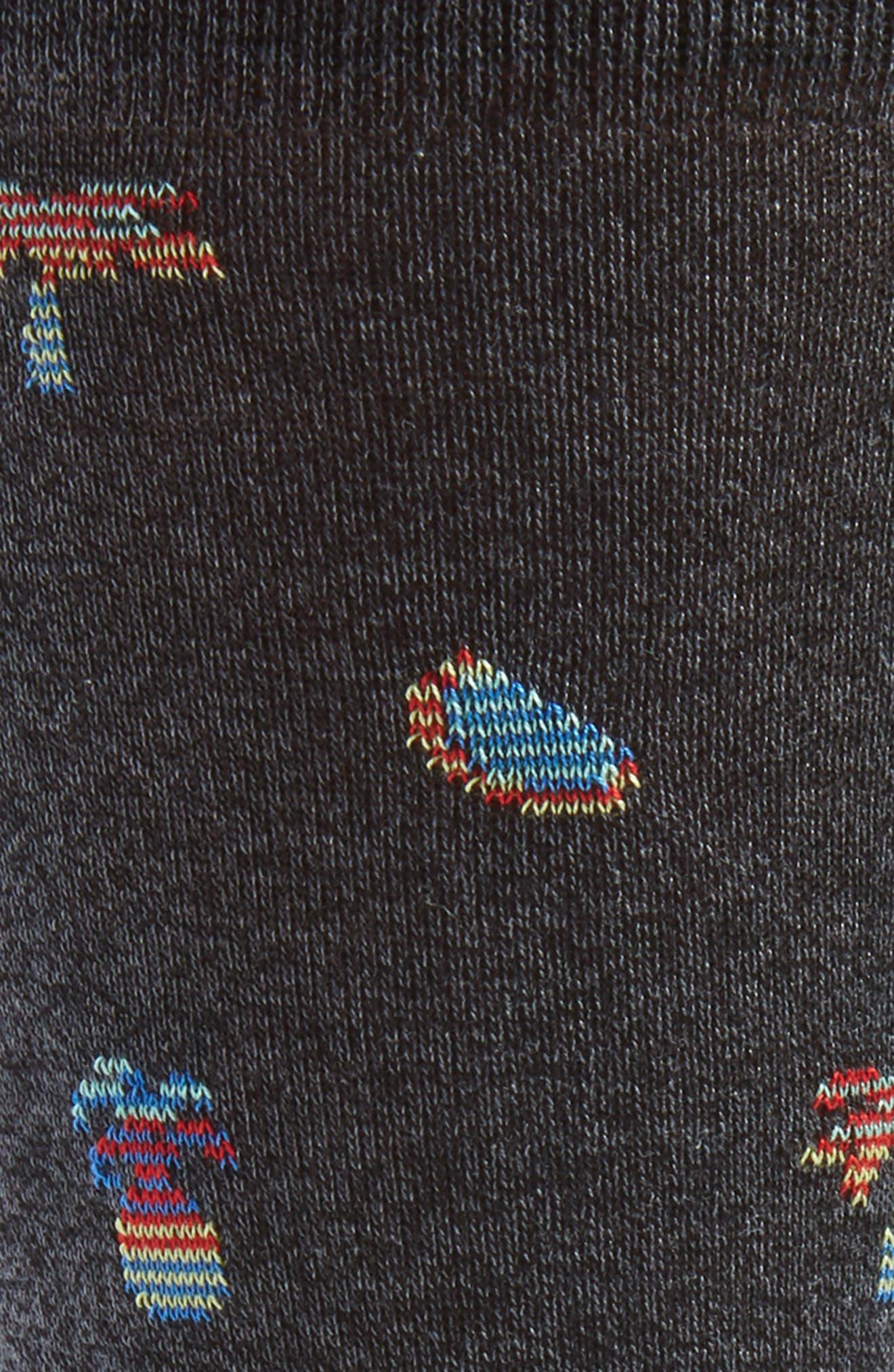Mercerized Cotton Blend Socks,                             Alternate thumbnail 3, color,