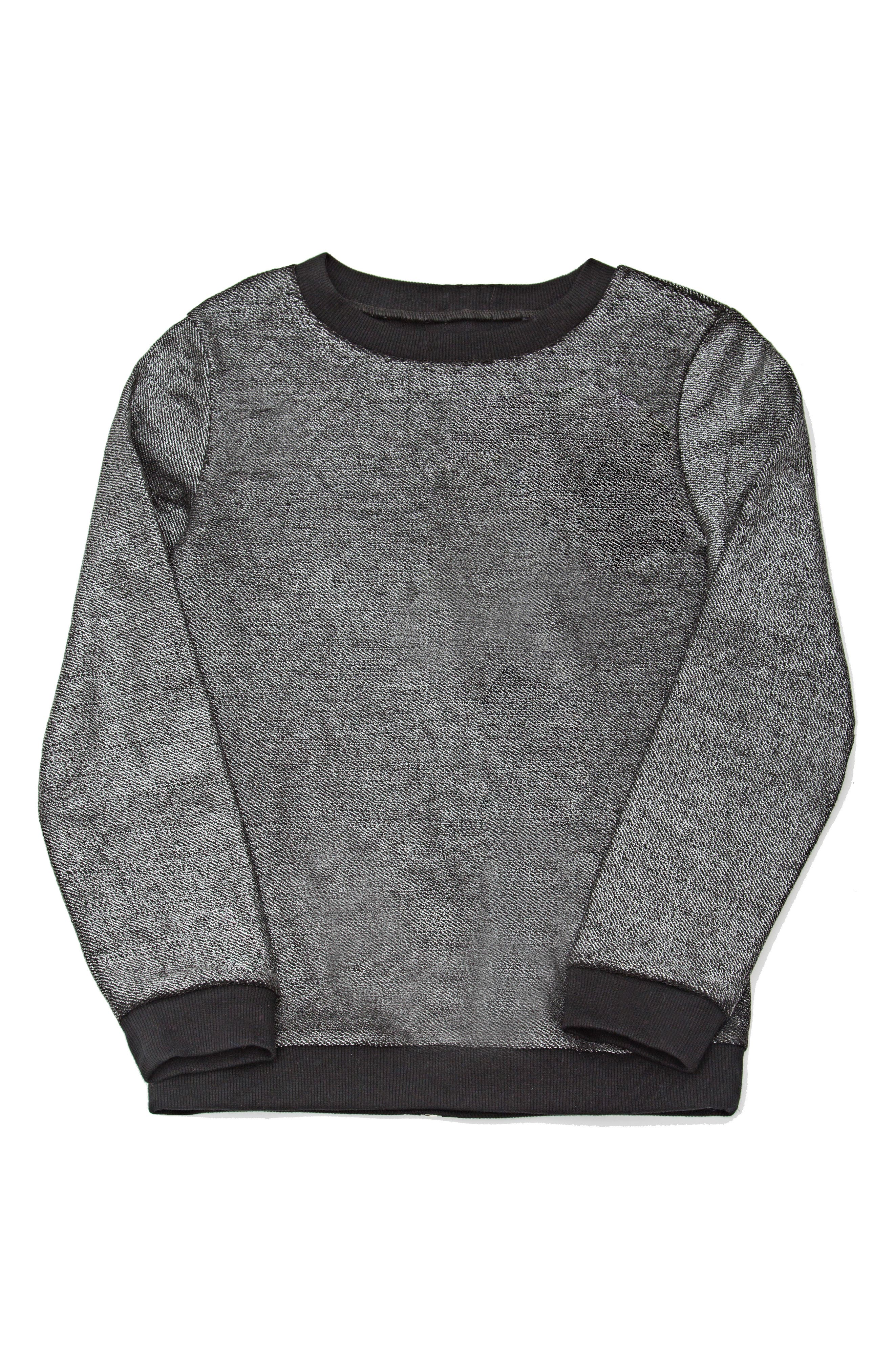 Zip Back Sweatshirt,                             Main thumbnail 1, color,                             001
