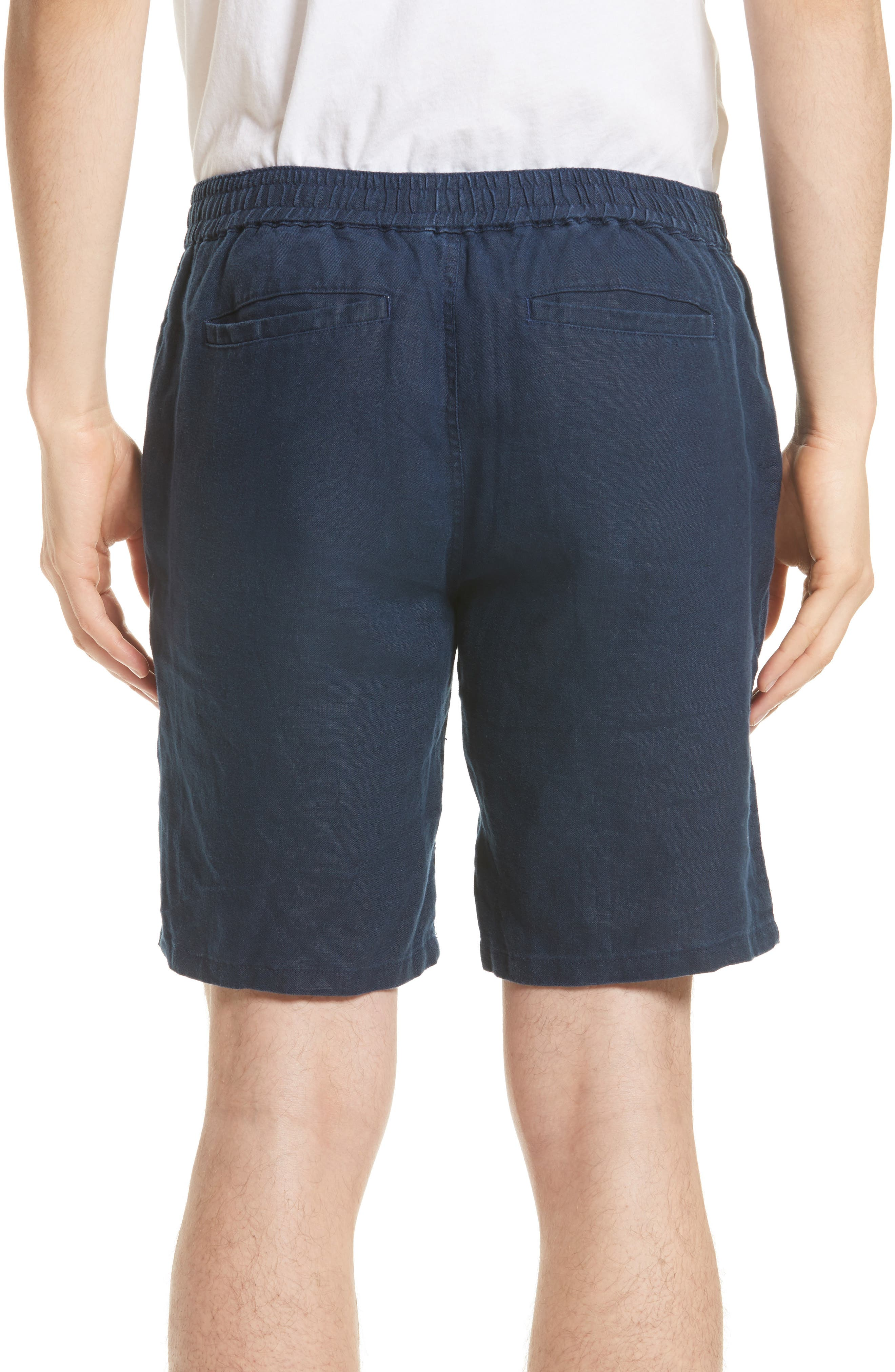 Max Linen Shorts,                             Alternate thumbnail 2, color,                             DEEP NAVY