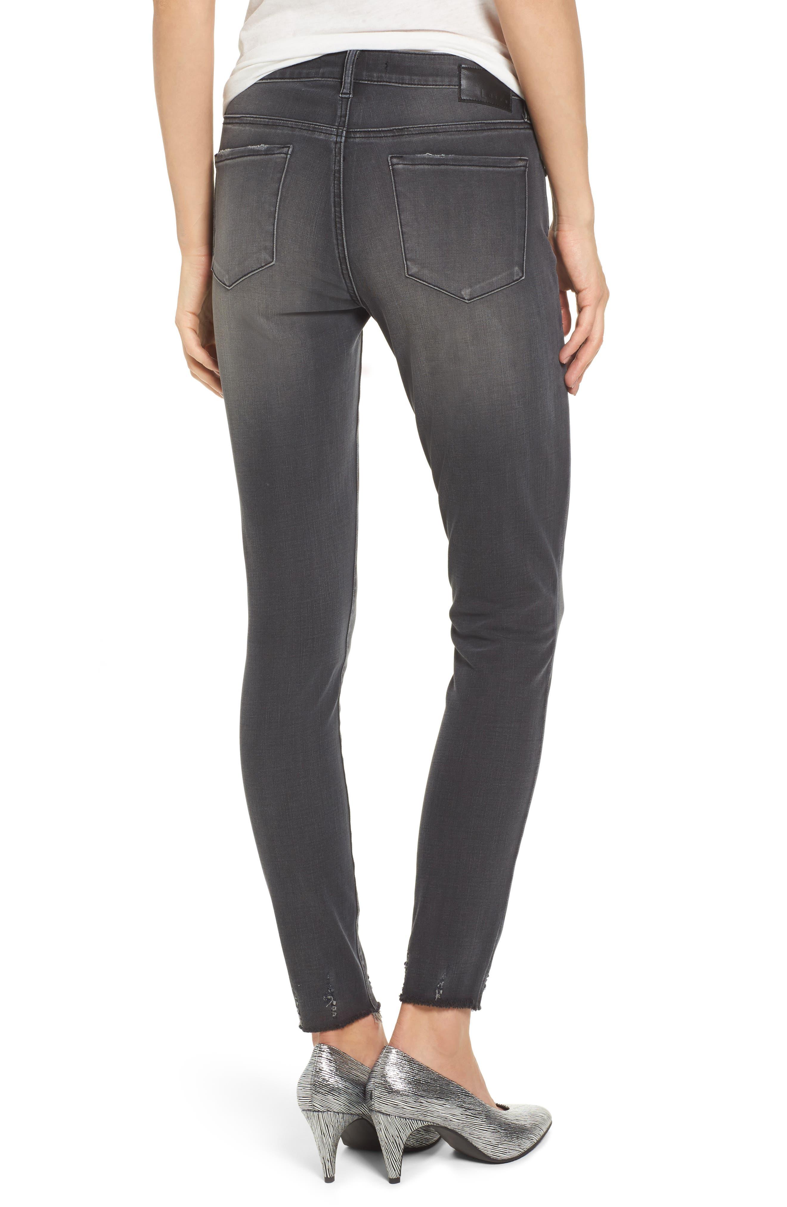 Frayed Hem Skinny Jeans,                             Alternate thumbnail 2, color,
