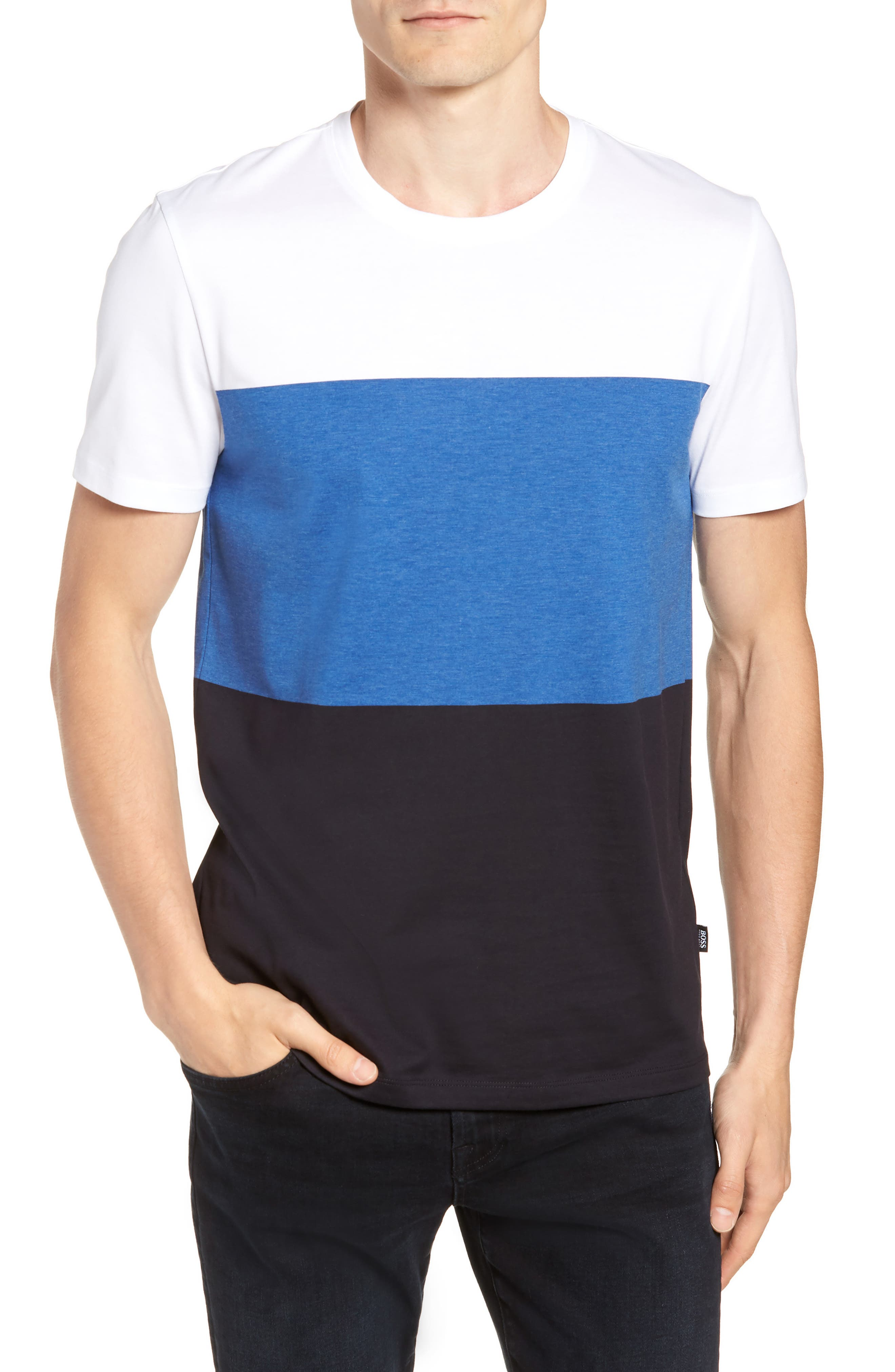 Tessler Colorblock Slim Fit T-Shirt,                         Main,                         color, 474