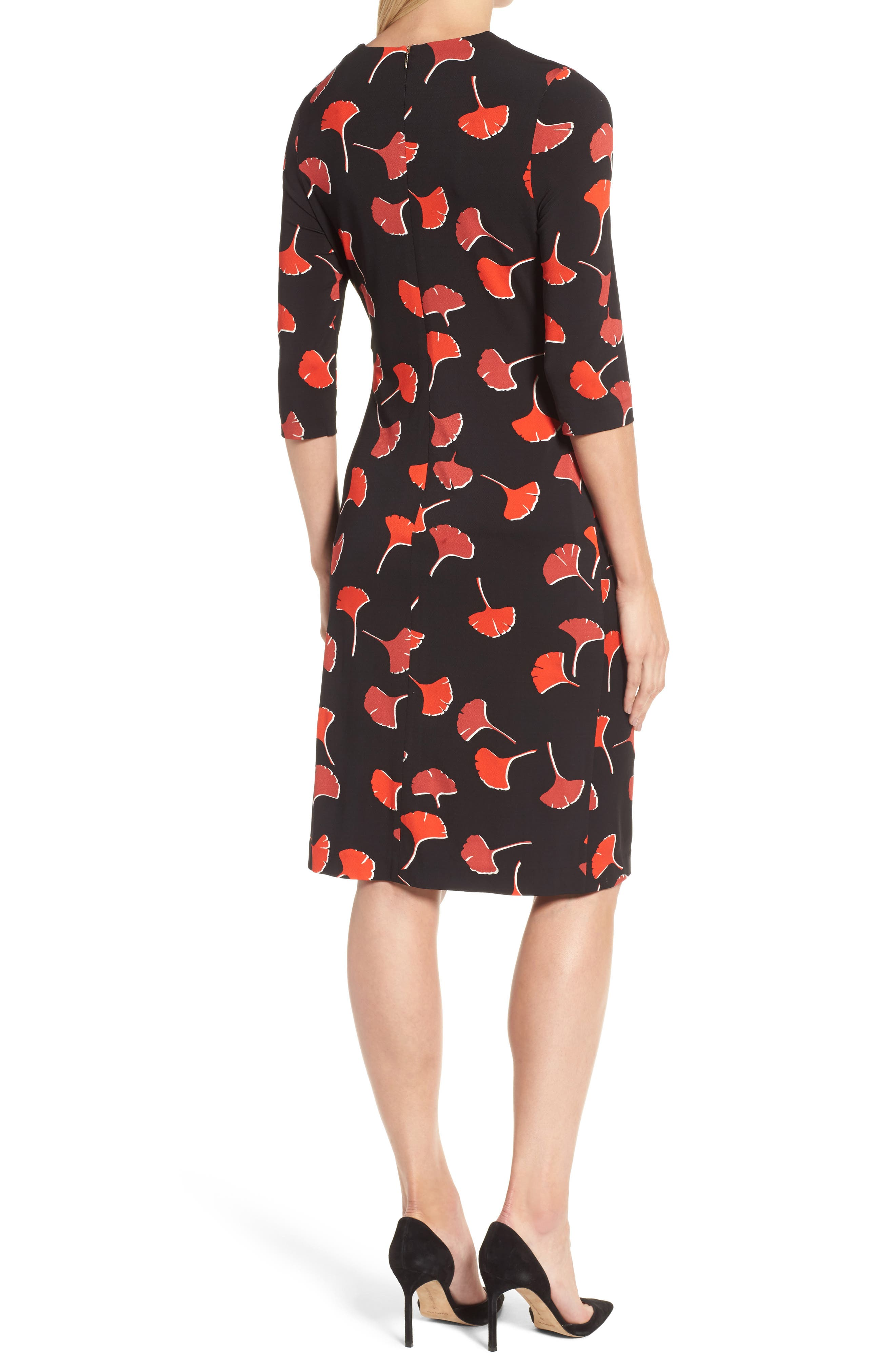 Eseona Print Sheath Dress,                             Alternate thumbnail 2, color,                             005