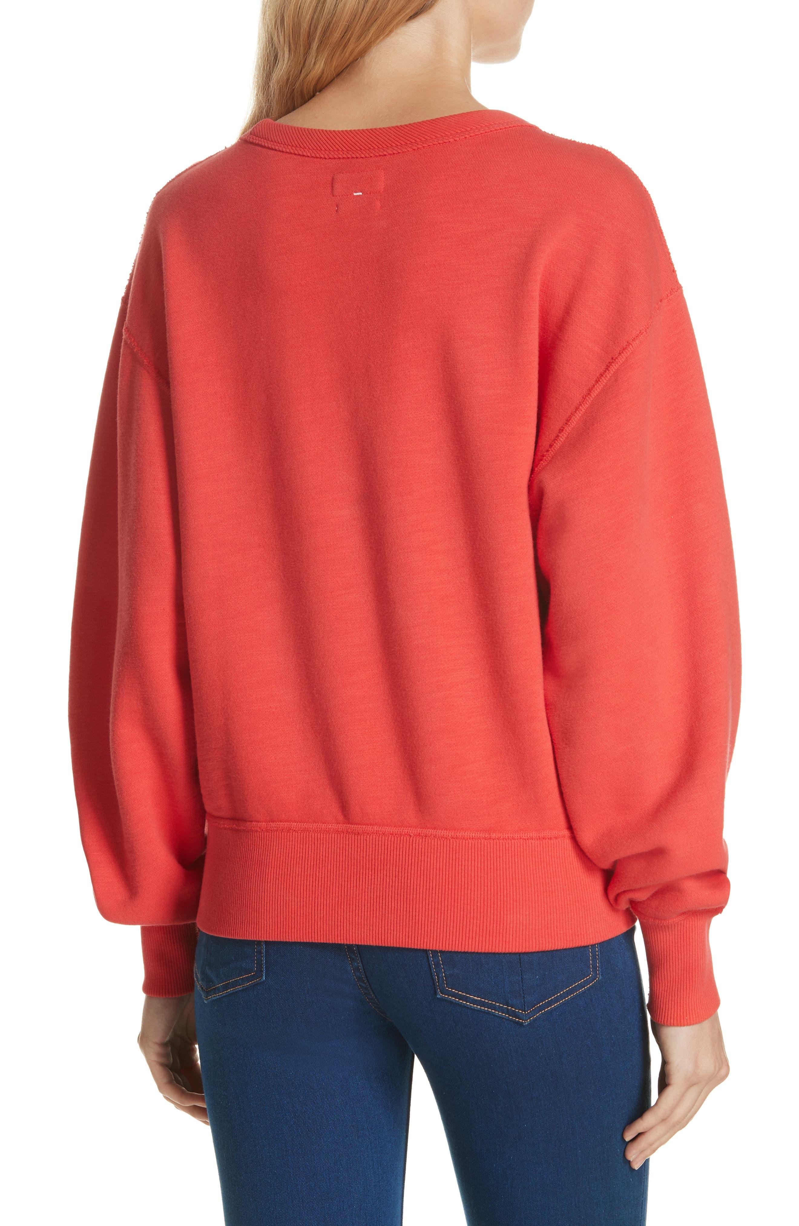 Hello Sweatshirt,                             Alternate thumbnail 2, color,                             CANDY APPLE
