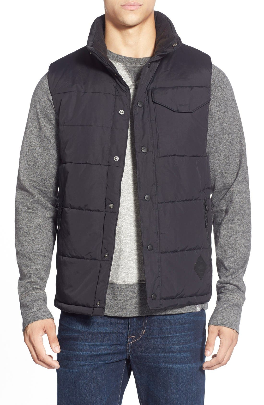 'Patrick's Point' Quilted Vest,                         Main,                         color, 001