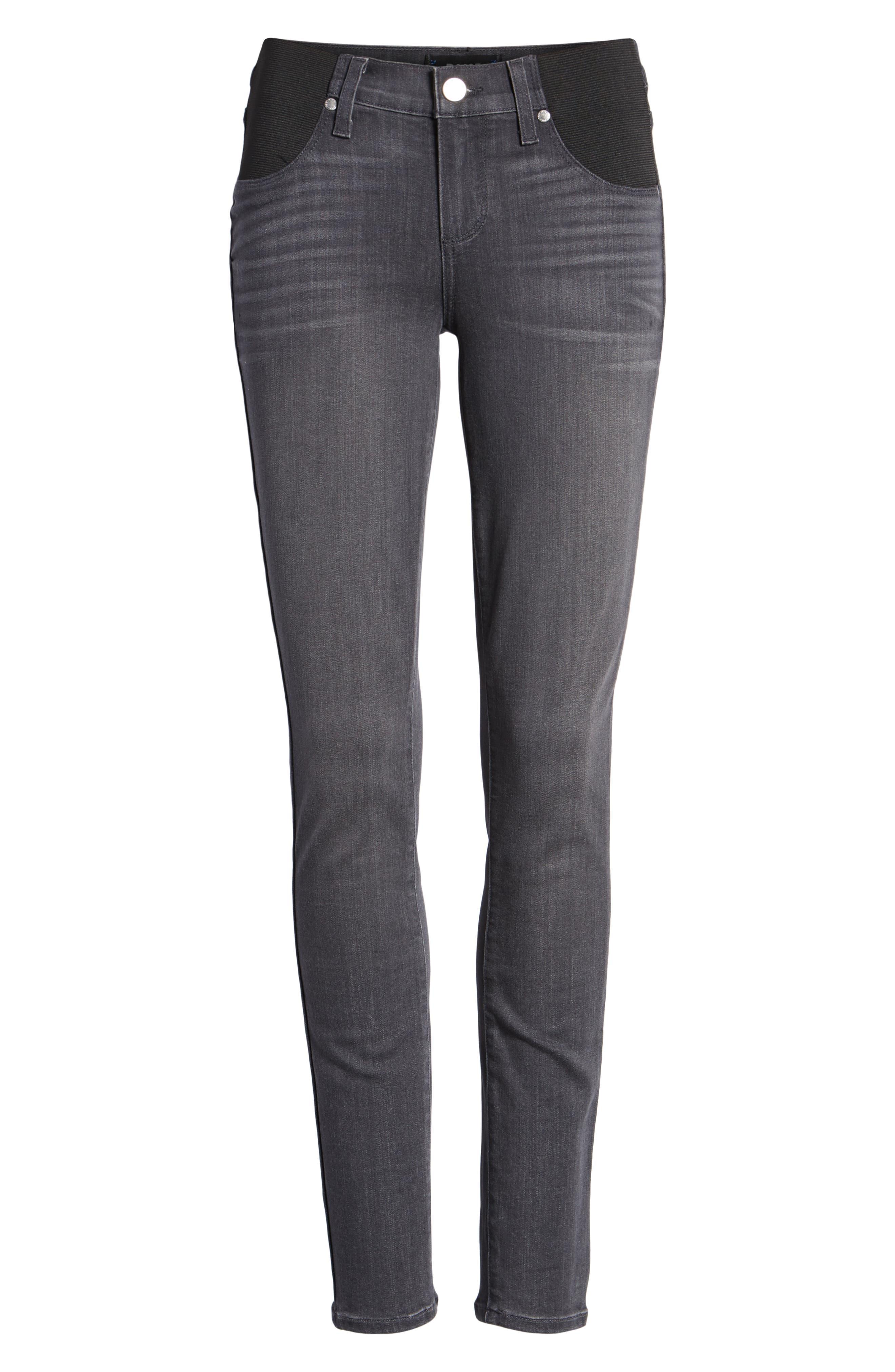 Transcend - Verdugo Maternity Skinny Jeans,                             Alternate thumbnail 7, color,                             GREY PEAKS