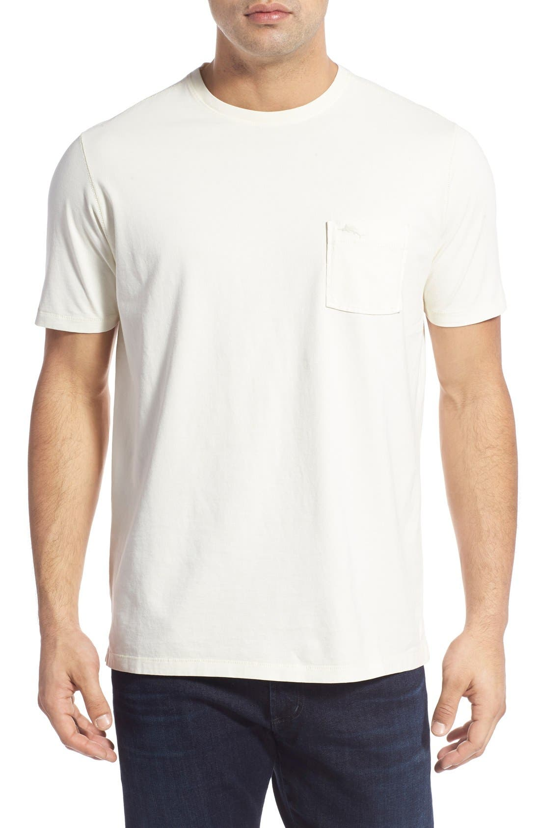 'New Bahama Reef' Island Modern Fit Pima Cotton Pocket T-Shirt,                             Main thumbnail 1, color,                             100