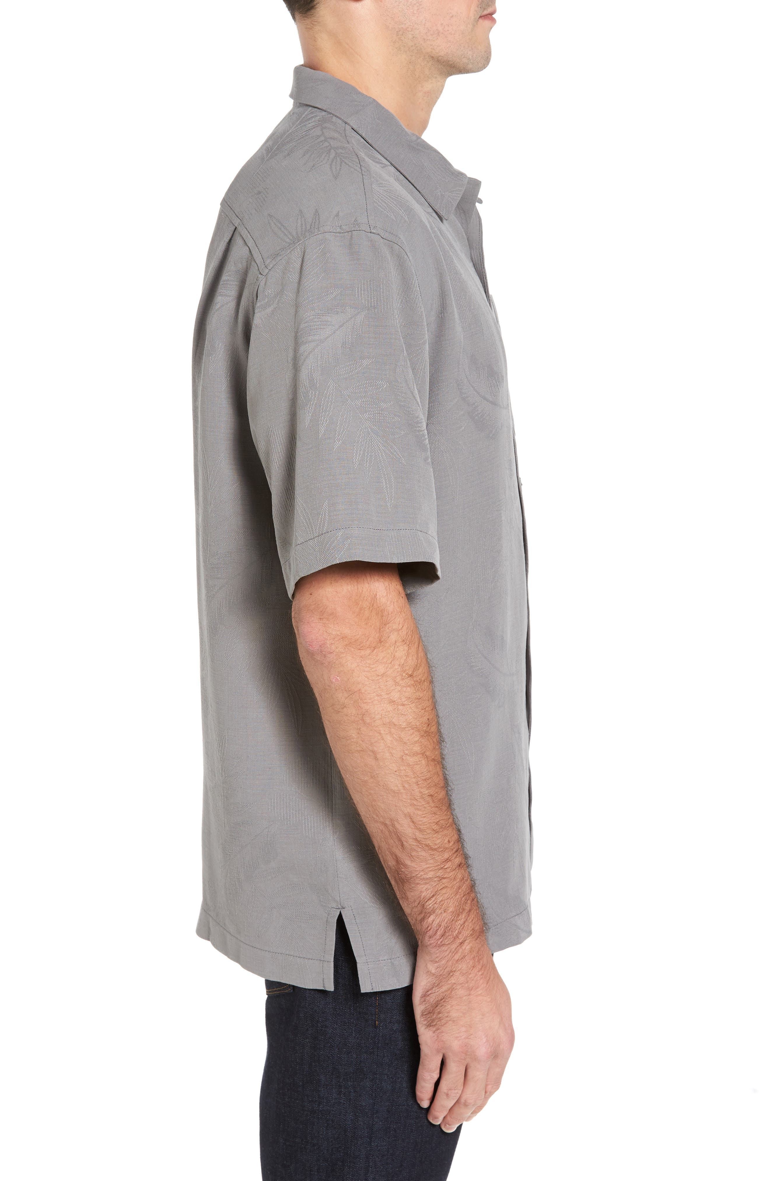 Rio Fronds Short Sleeve Silk Sport Shirt,                             Alternate thumbnail 35, color,