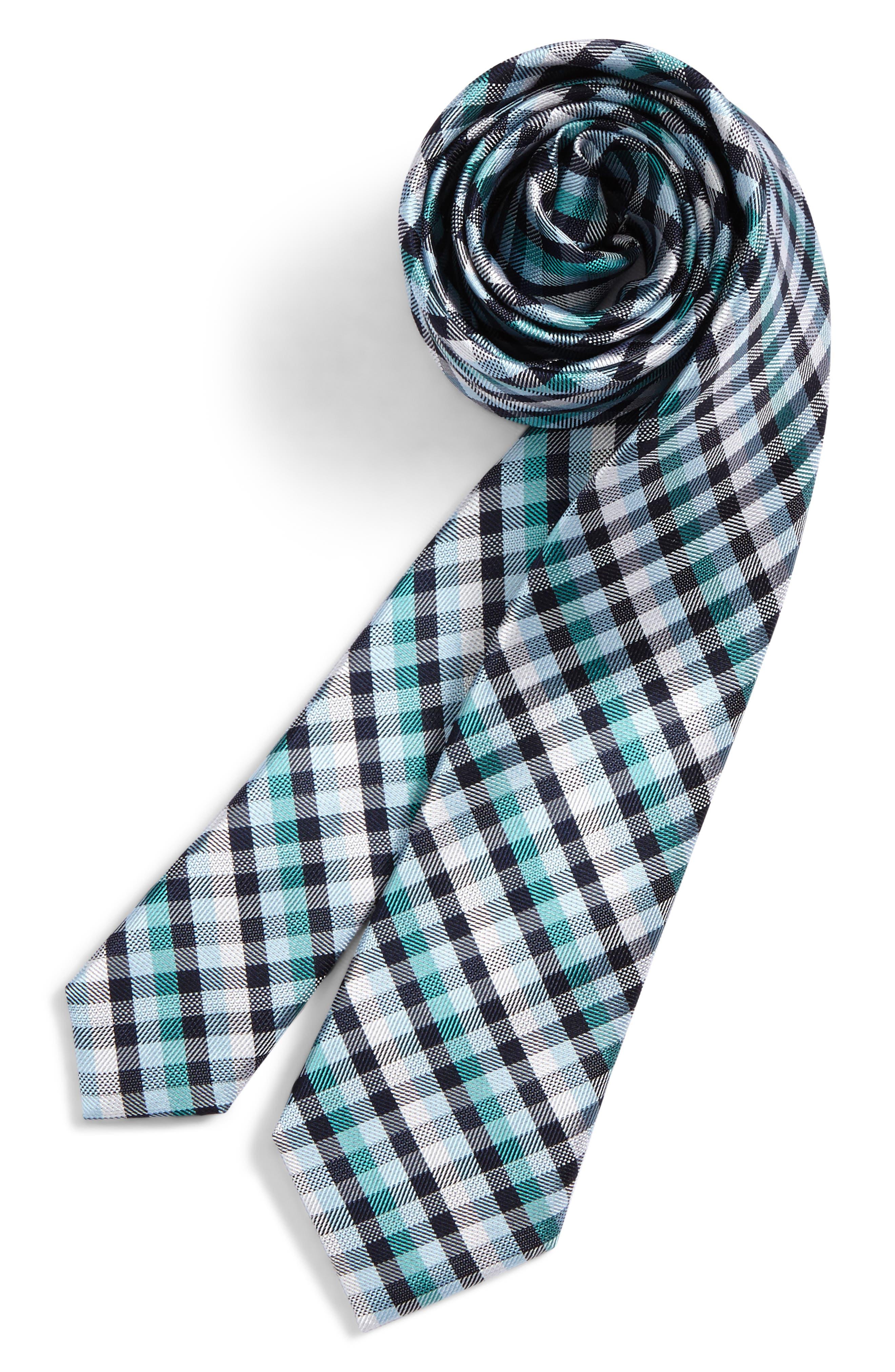 Check Silk Tie,                             Main thumbnail 6, color,