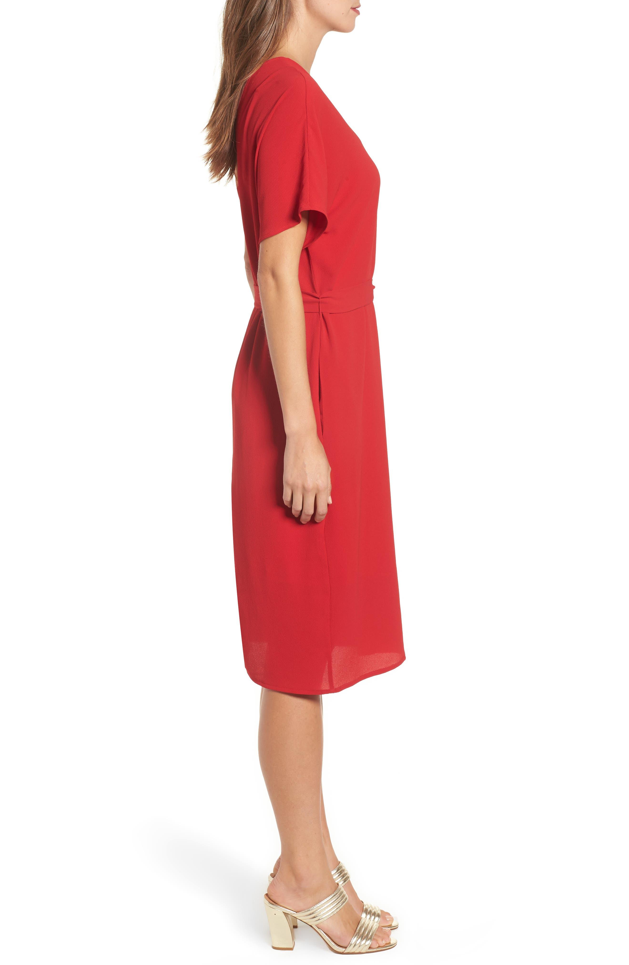 Stretch Crepe Dress,                             Alternate thumbnail 15, color,