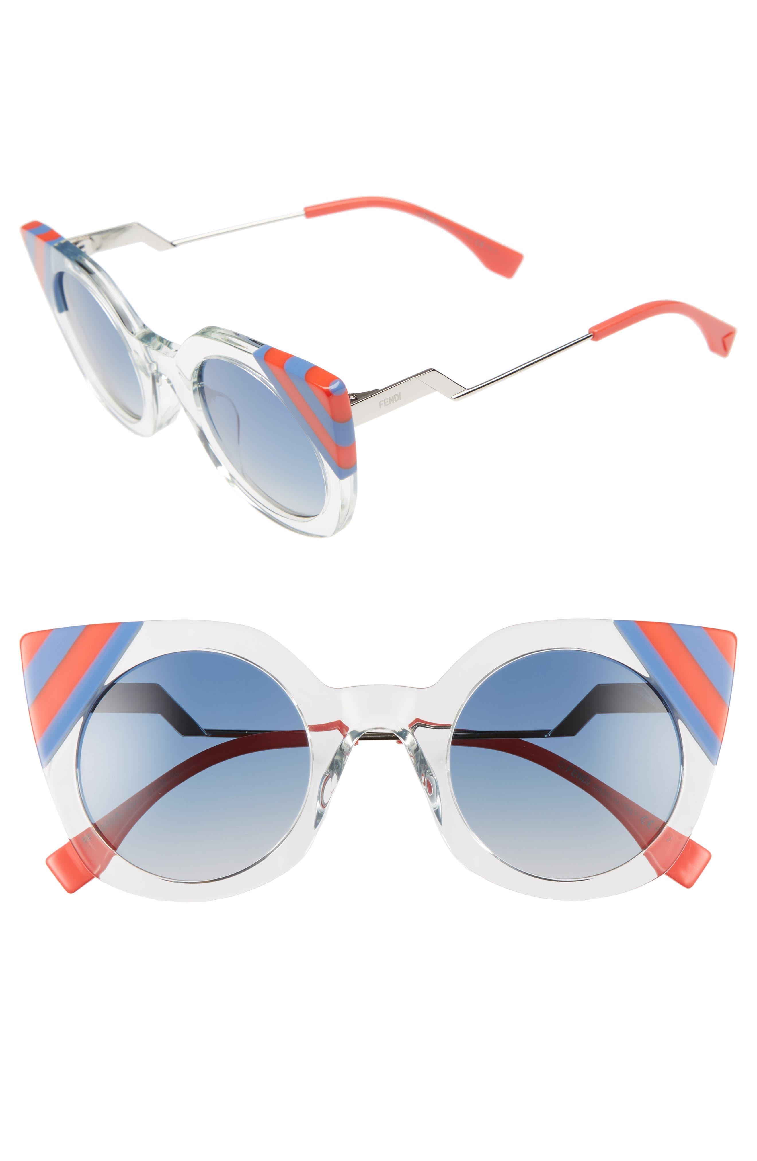 47mm Cat Eye Sunglasses,                             Main thumbnail 1, color,
