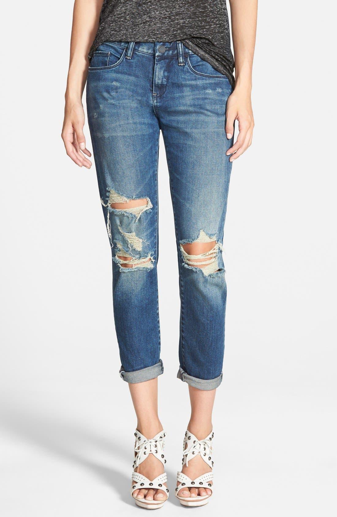 Destroyed Boyfriend Jeans,                         Main,                         color, 400