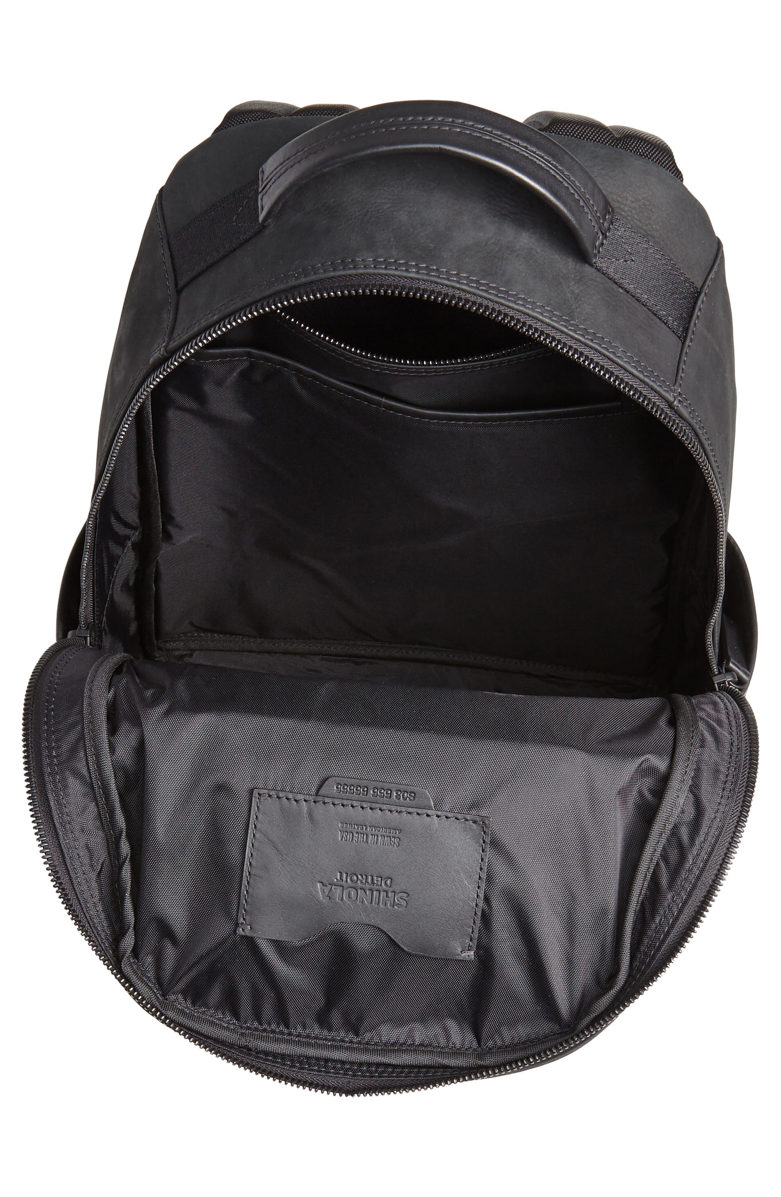 Nubuck Utility Backpack,                             Alternate thumbnail 4, color,                             BLACK