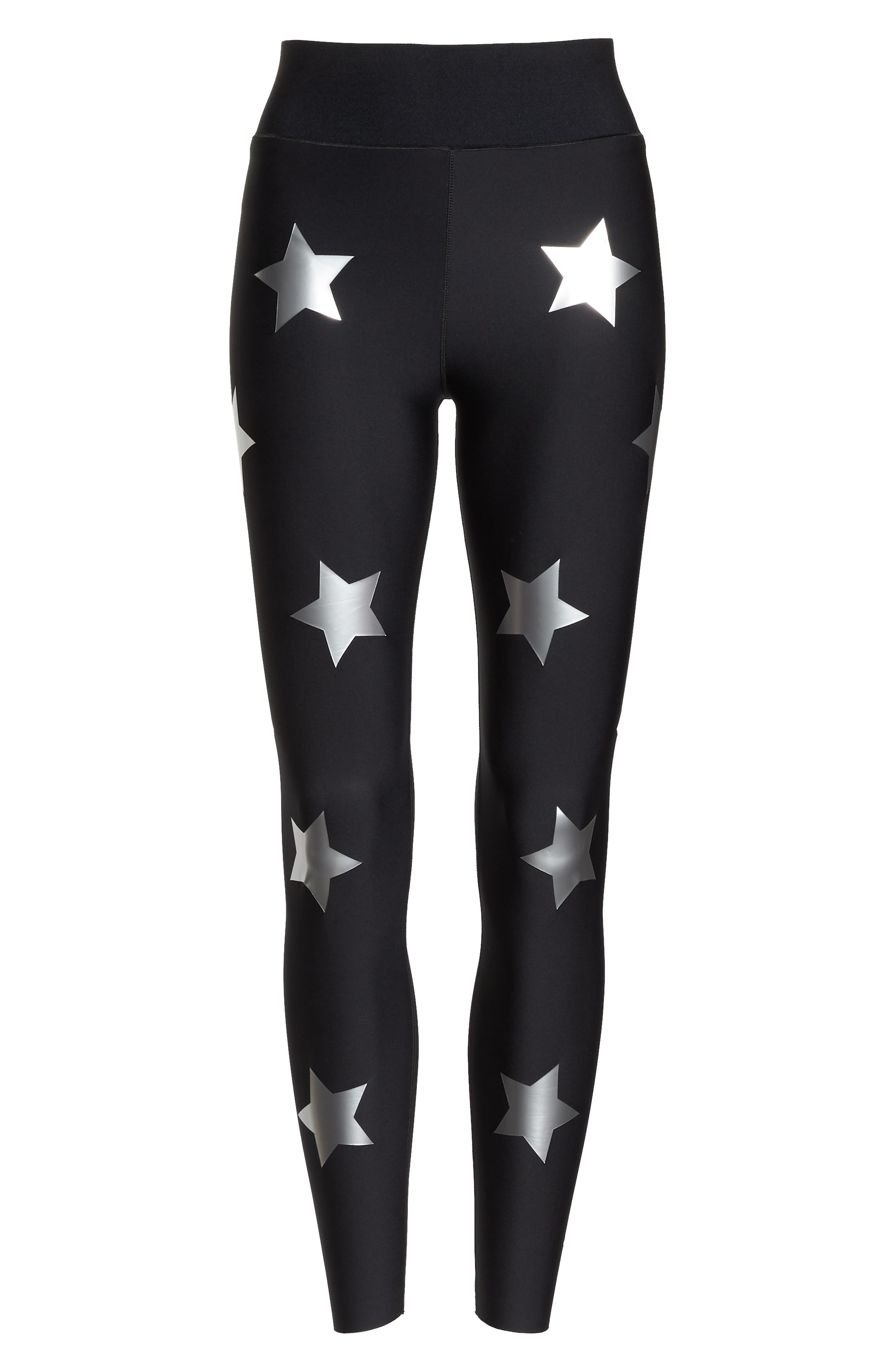 Lux Knockout Leggings,                             Alternate thumbnail 7, color,                             NERO SILVER